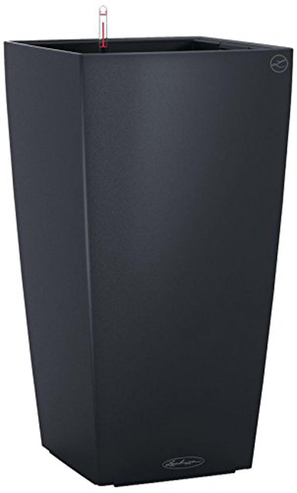 Vaso Cubico Color in polipropilene colore grigio H 56 x L 30 - 2