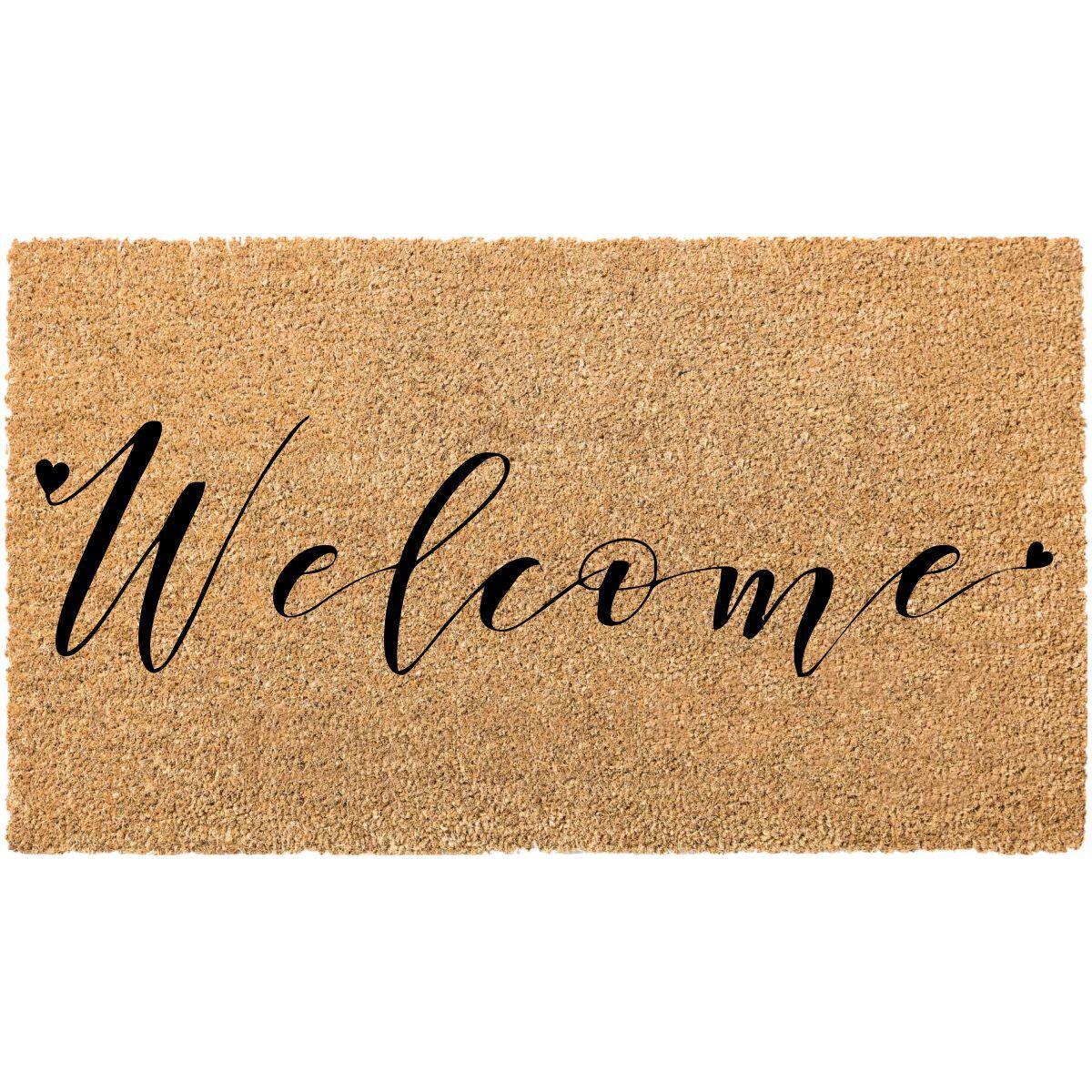 Zerbino Italo Welcome in cocco multicolor 40x70 cm