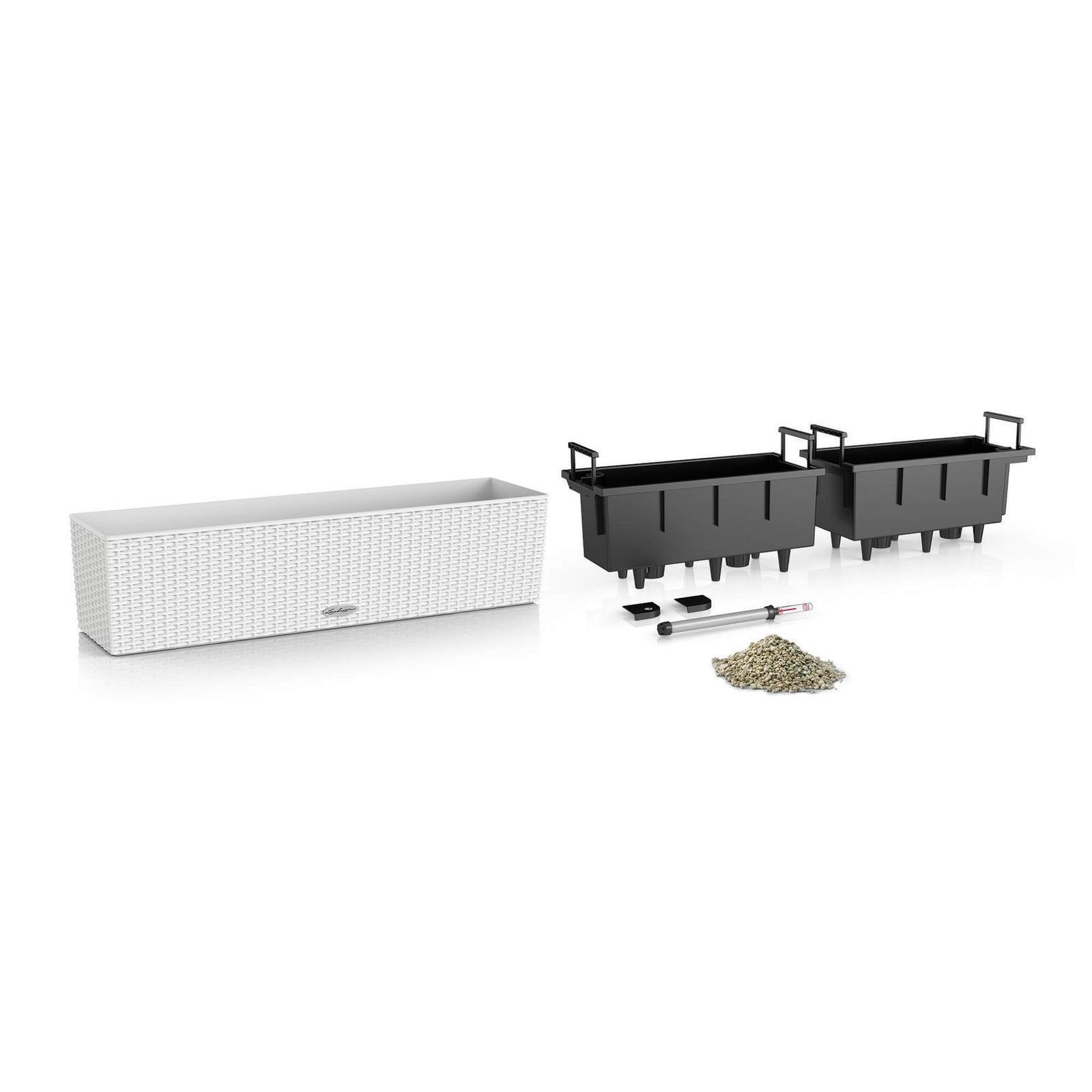 Cassetta portafiori Cottage in plastica colore grigio H 19 x L 19 x P 80 cm - 3