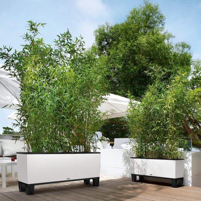 Fioriera Trio Cottage in plastica colore bianco H 34 x L 102 x P 100 cm - 1