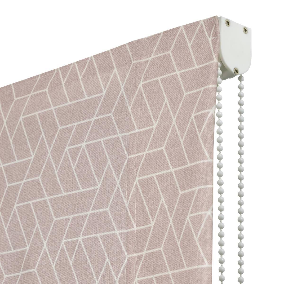 Tenda a pacchetto Geometric rosa 165x175 cm - 1