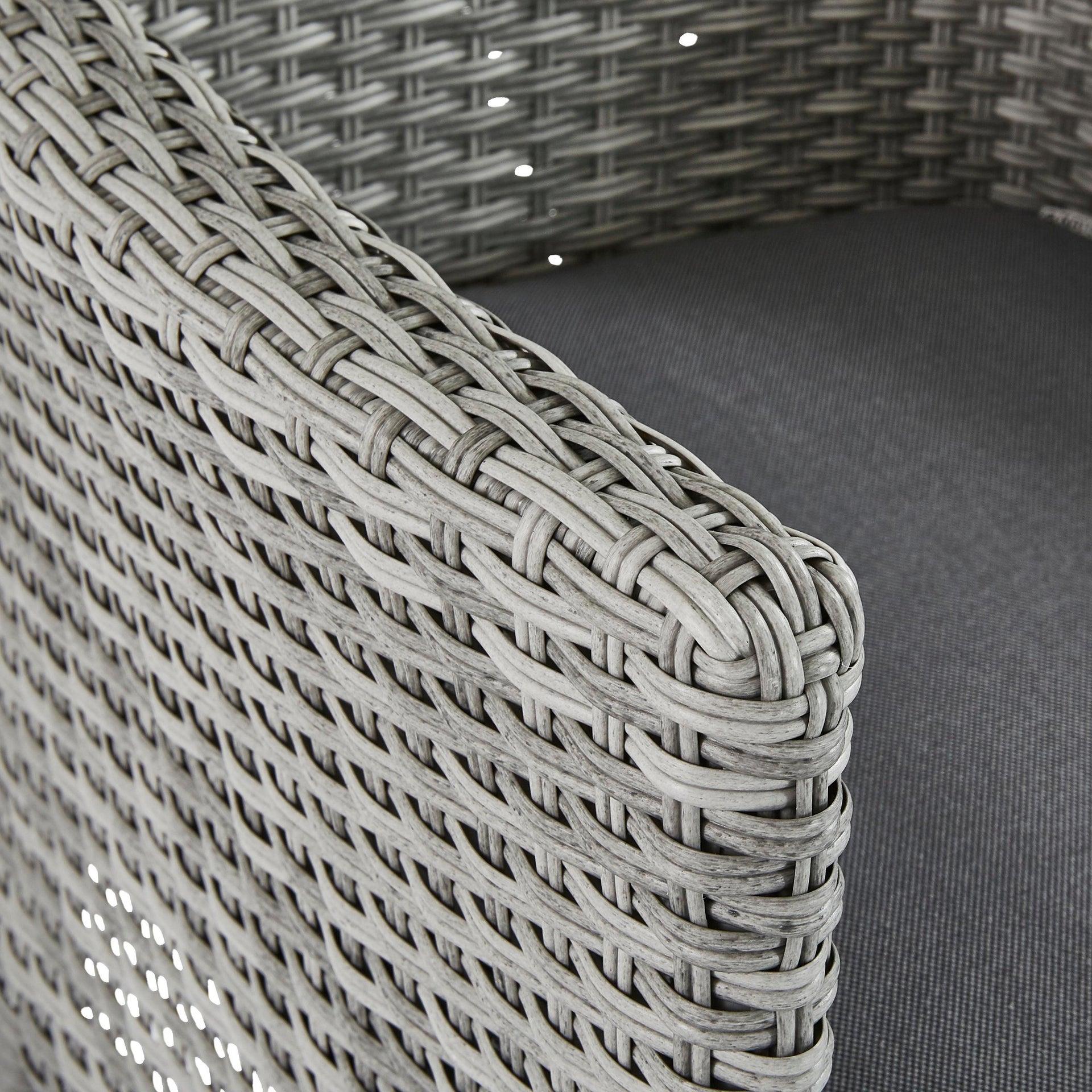 Poltrona da giardino con cuscino in alluminio Davos NATERIAL colore antracite - 6