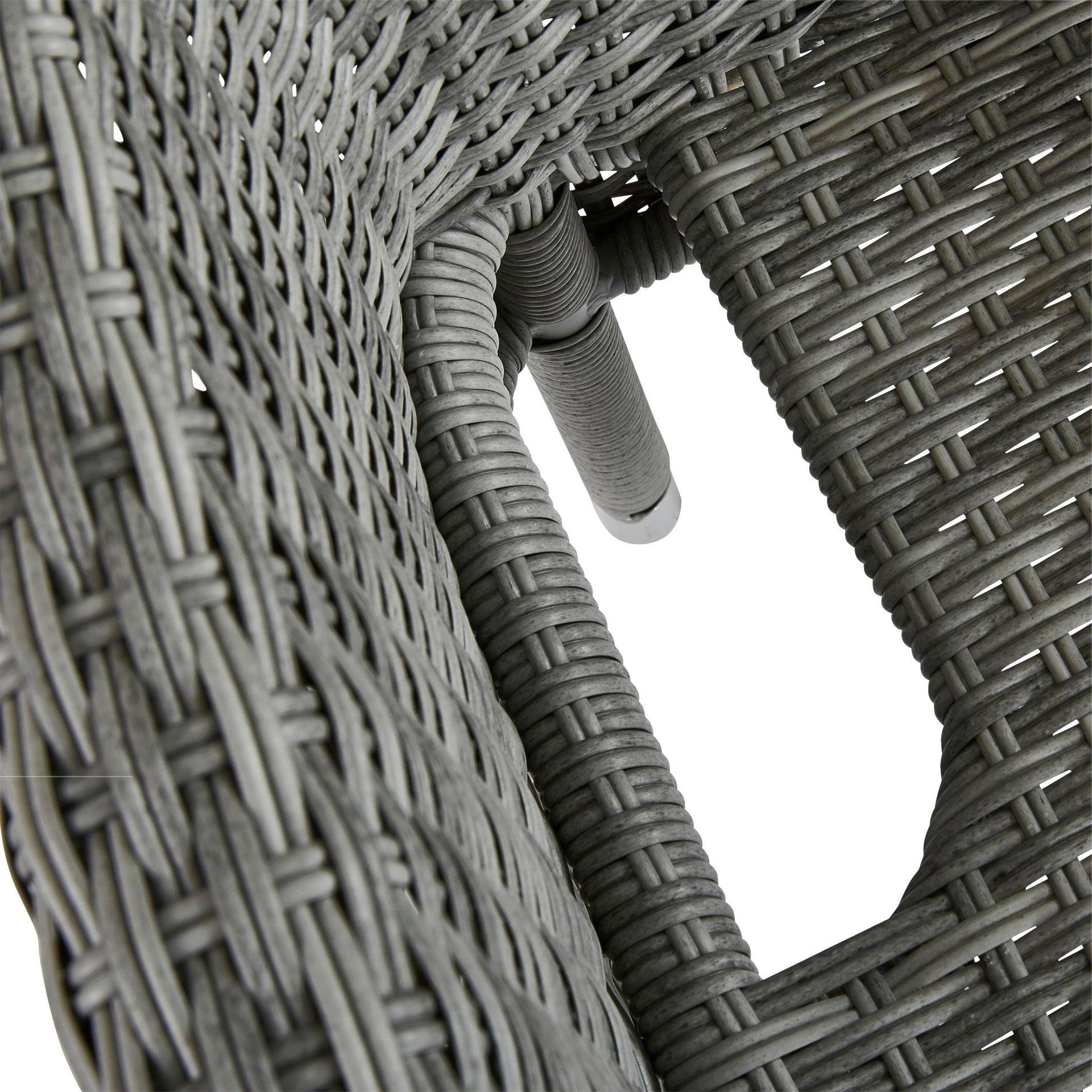 Poltrona da giardino con cuscino in alluminio Davos NATERIAL colore antracite - 8