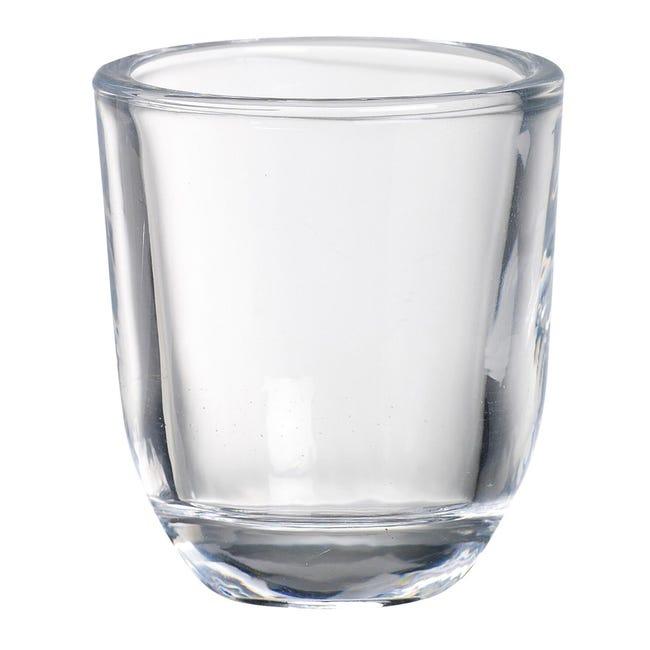 Portacandela in vetro trasparente H 6.5 cm, L 5.8 x Ø 5.8 cm - 1