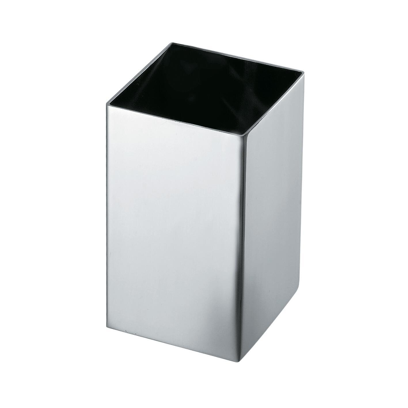 Bicchiere porta spazzolini Nemesia in inox grigio - 1