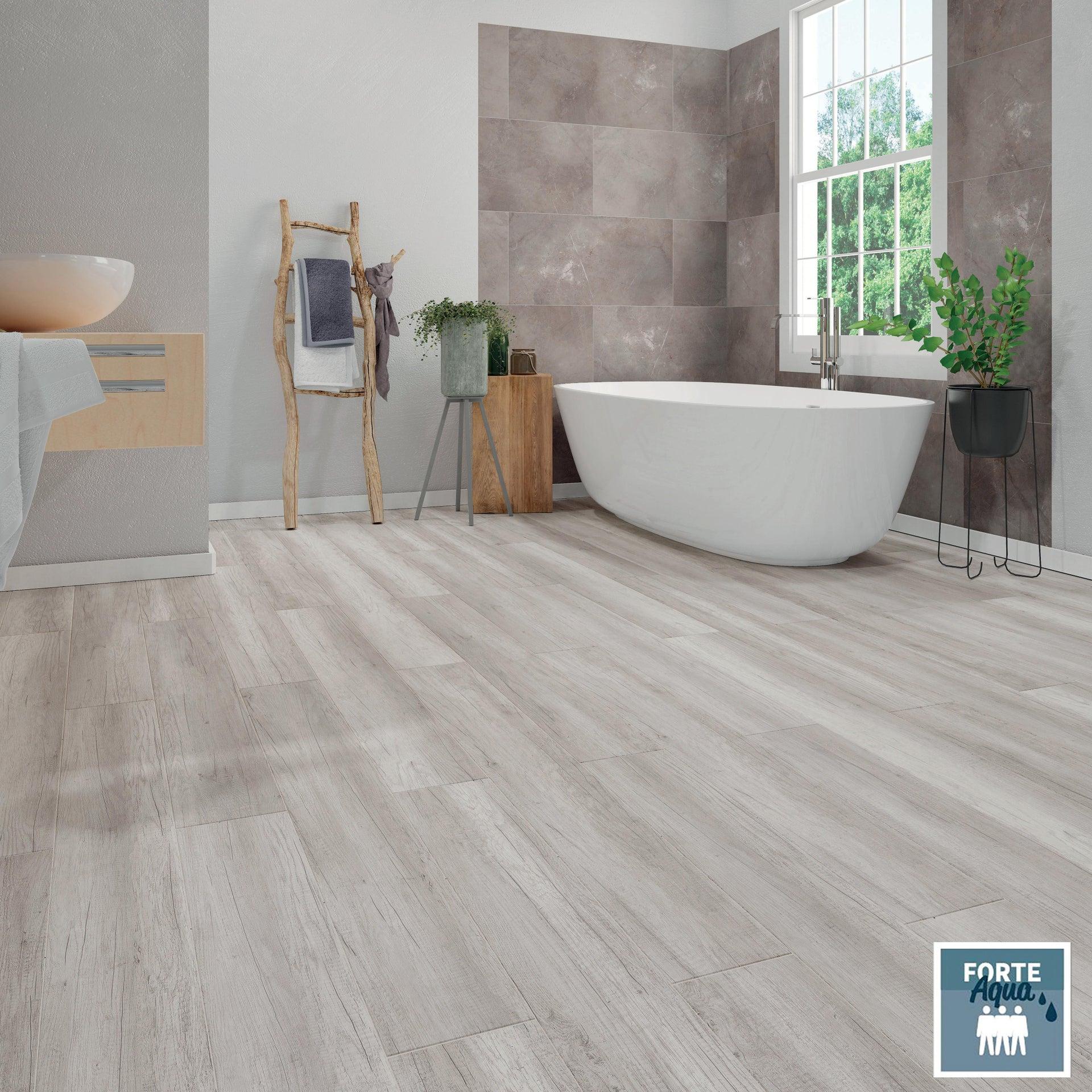 Pavimento laminato H2O Oak Sp 8 mm grigio / argento - 2