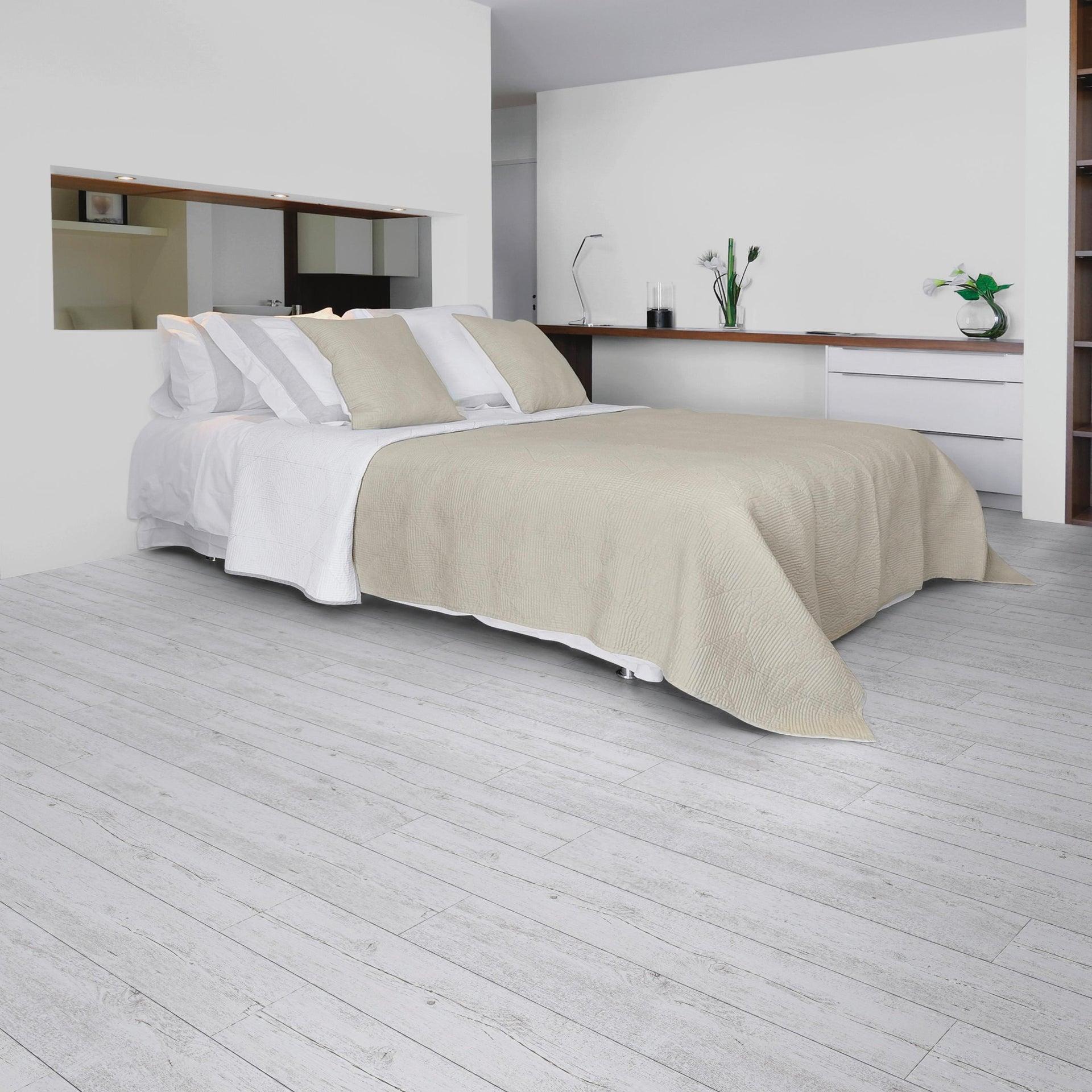 Pavimento PVC adesivo White Pecan Sp 2 mm bianco - 1