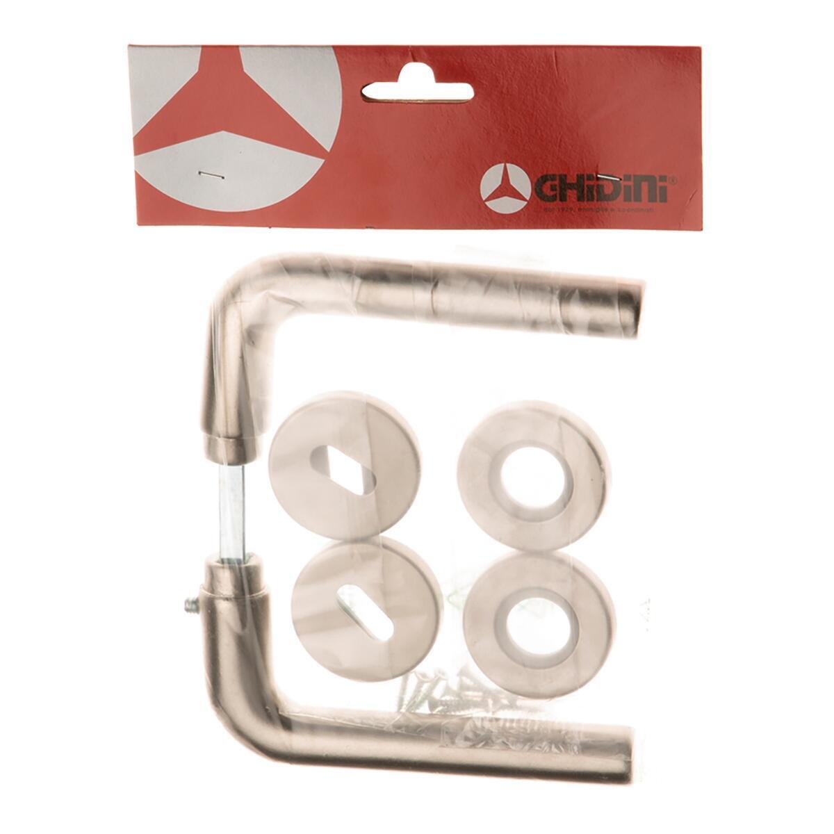 Maniglia con rosetta e bocchetta GHIDINI 142 in alluminio satinato - 3