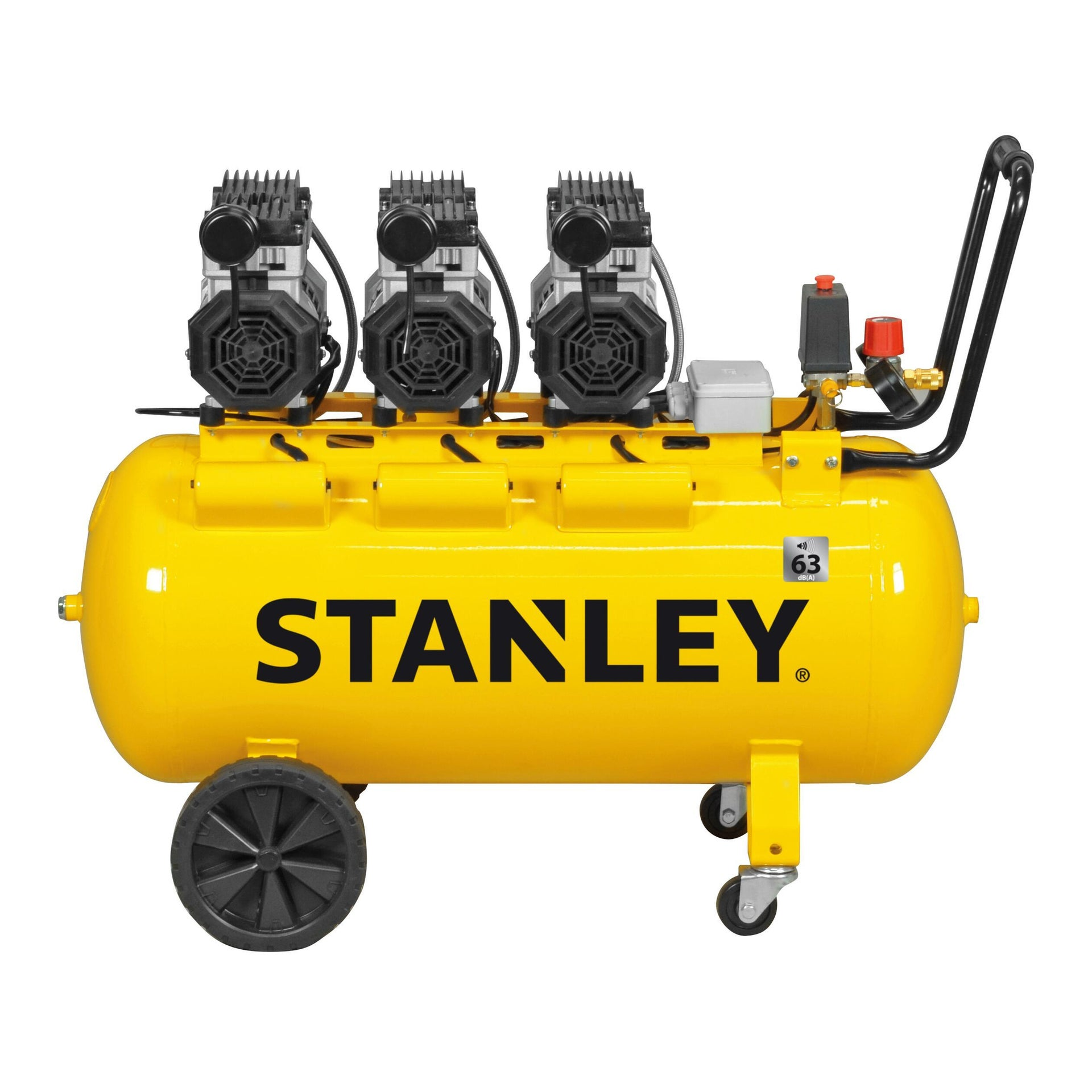 Compressore silenziato STANLEY SXCMS30103E, 3 hp, 8 bar, 100 L - 3