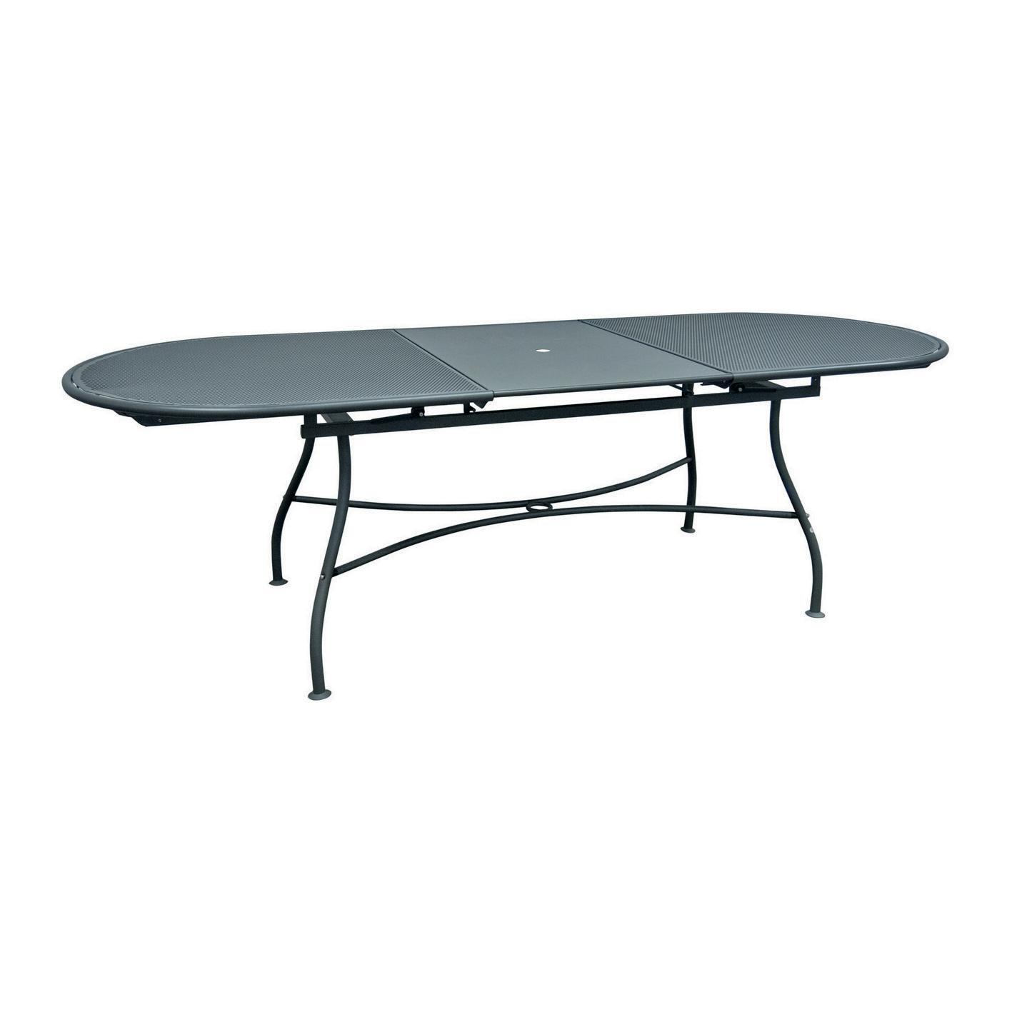 Tavolo da giardino allungabile ovale Evo con piano in alluminio L 180/240 x P 90 cm - 6
