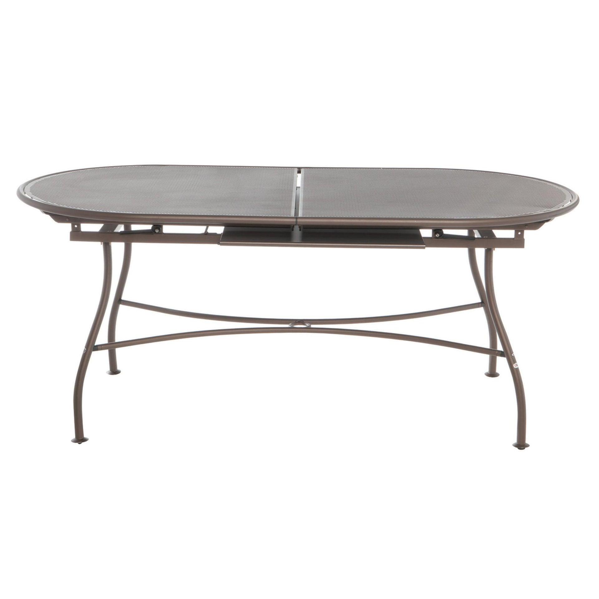 Tavolo da giardino allungabile ovale Evo con piano in alluminio L 180/240 x P 90 cm - 4