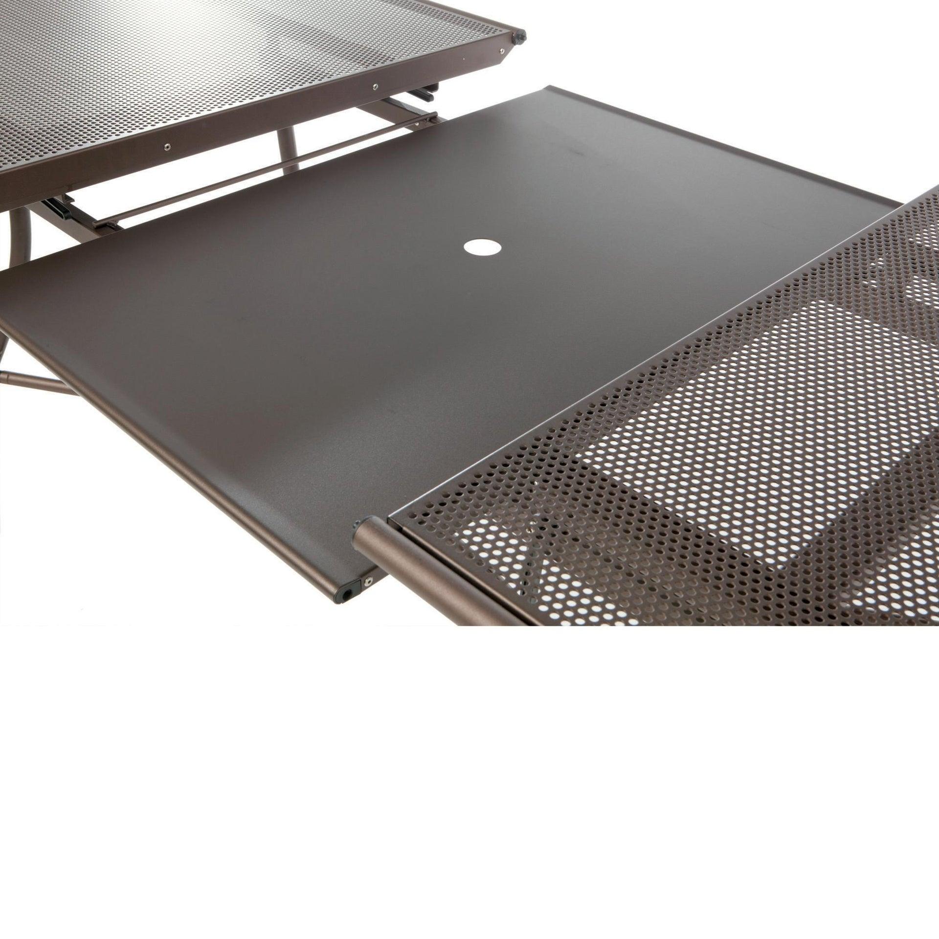 Tavolo da giardino allungabile ovale Evo con piano in alluminio L 180/240 x P 90 cm - 2