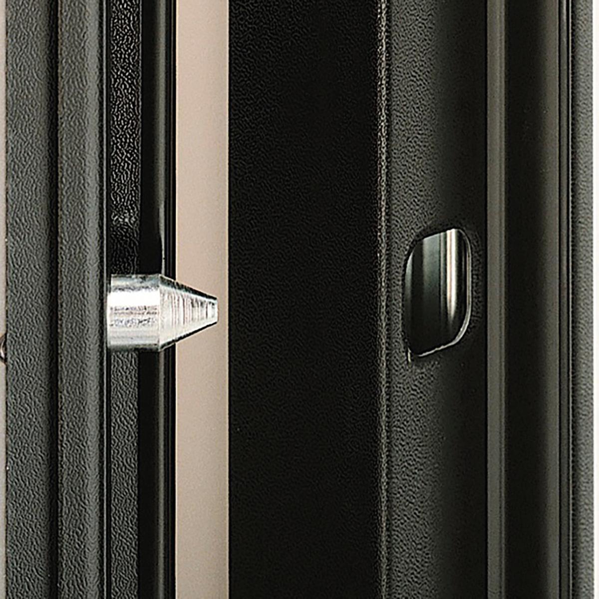Porta blindata Mirror noce L 90 x H 210 cm destra - 7