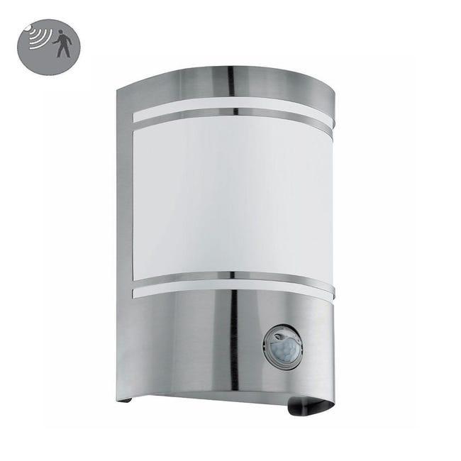 Applique CERNOin acciaio inossidabile, bianco e grigio, E27 MAX40W IP44 EGLO - 1