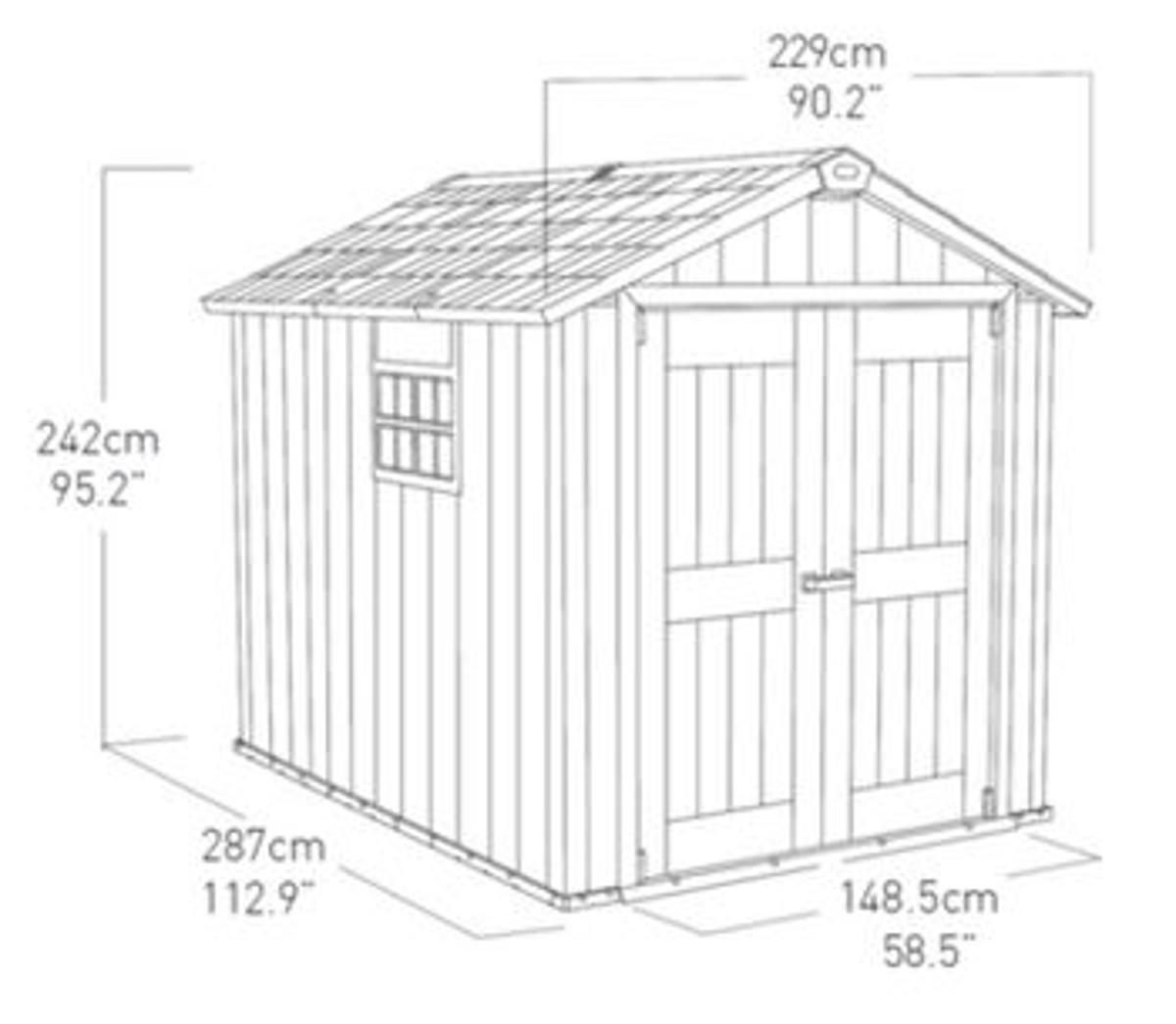 Casetta da giardino in polipropilene Oakland 759 KETER, superficie interna 5.25 m² e spessore parete 20 mm - 4