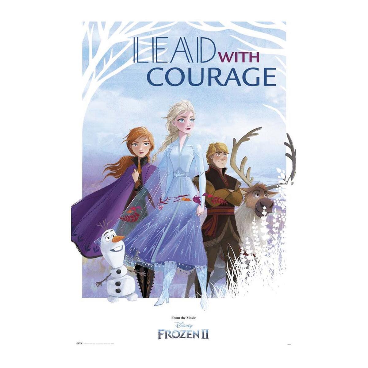 Poster Frozen II Courage 61x91.5 cm - 2
