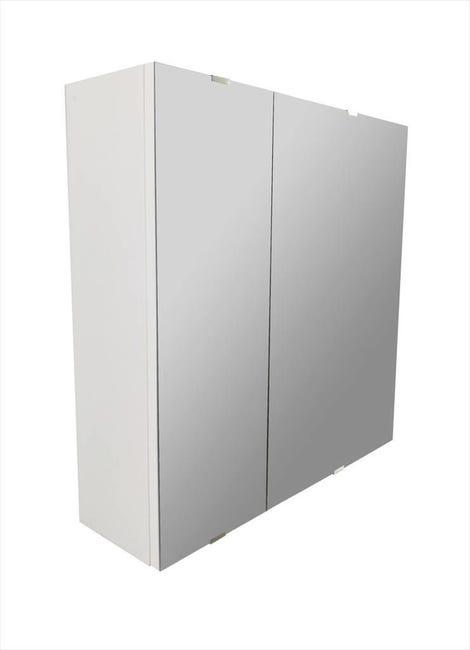 Specchio contenitore senza luce Essential L 58 x P 13.2 x H 58 cm Sensea - 1
