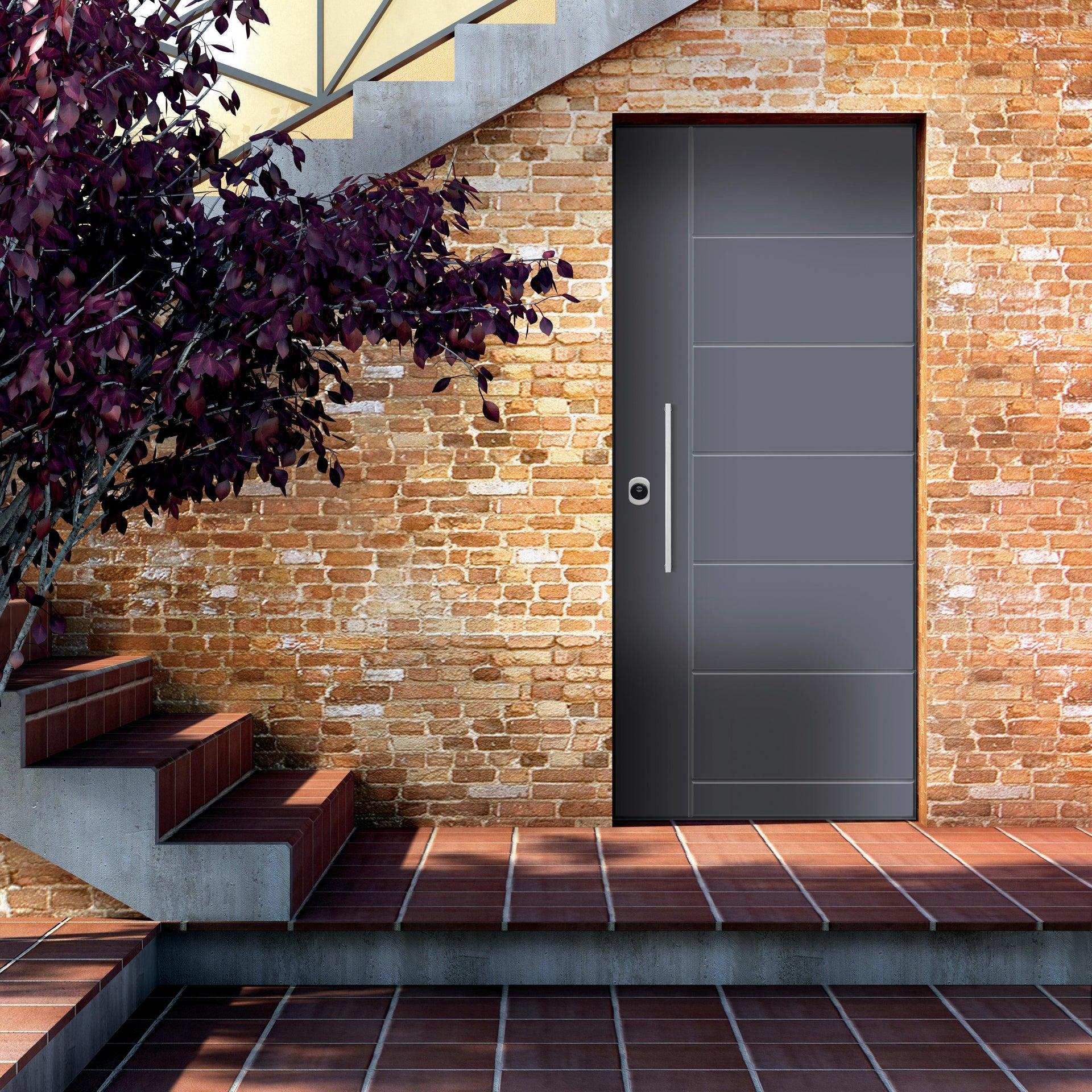 Porta blindata Termika grigio L 90 x H 210 cm destra - 6
