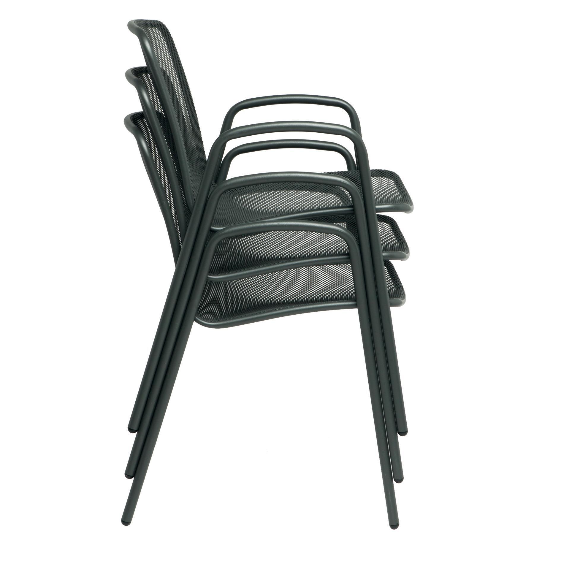 Sedia con braccioli senza cuscino Volta colore antracite - 4