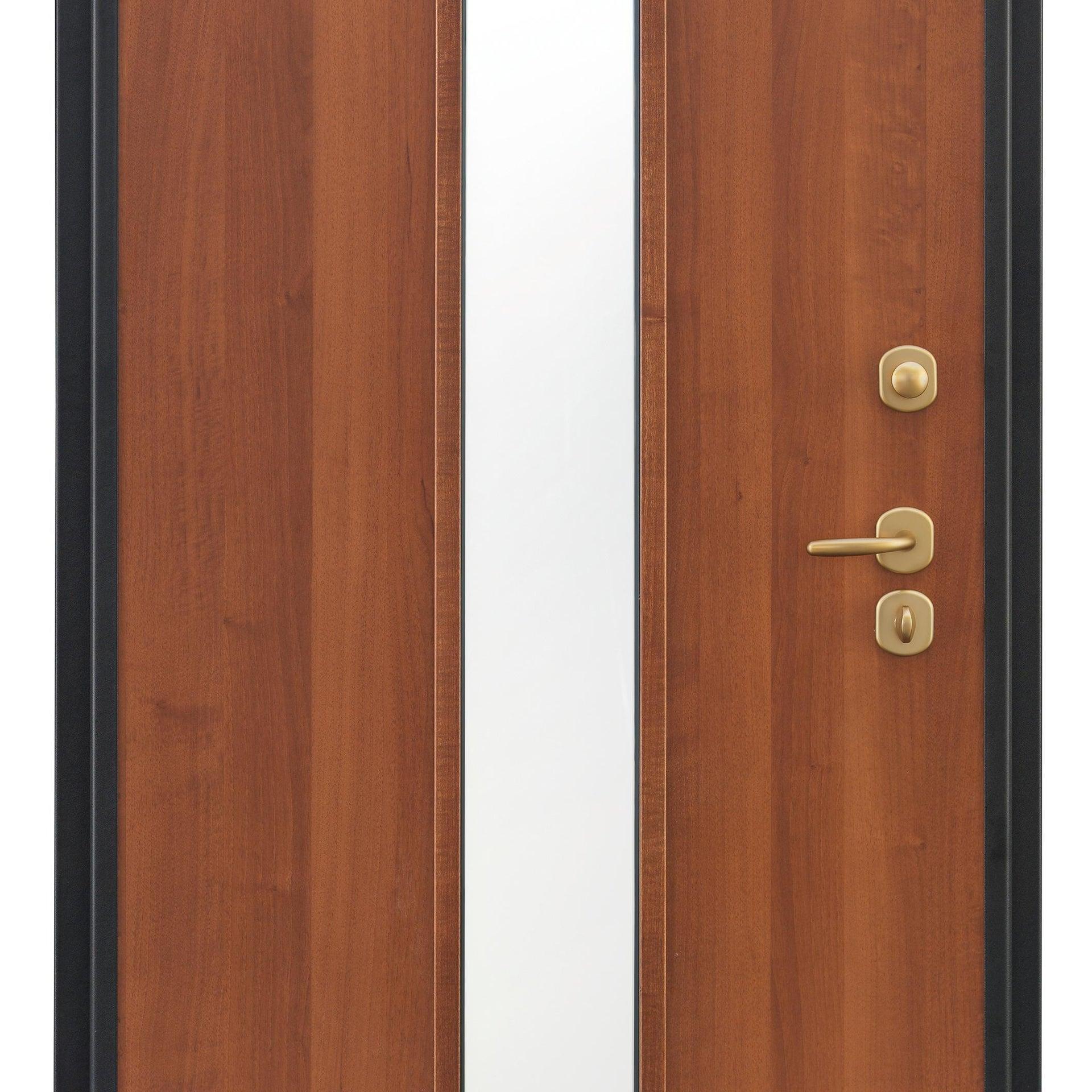 Porta blindata Mirror noce L 90 x H 210 cm destra - 8
