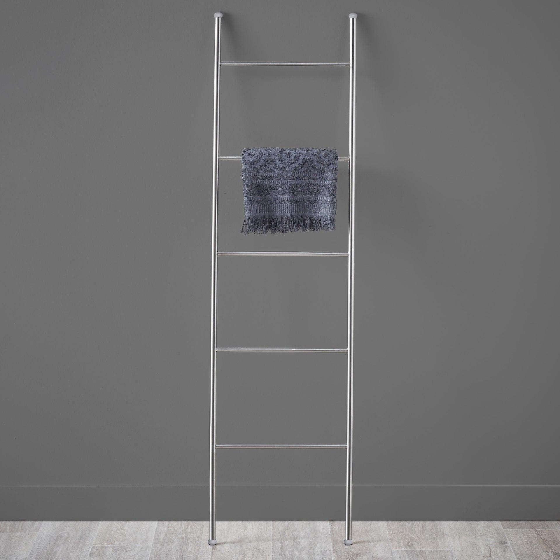 Scala porta asciugamani Loft in inox spazzolato grigio - 1