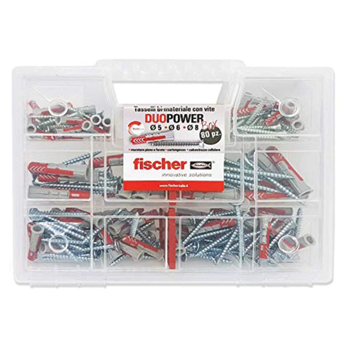 Kit di fissaggio FISCHER 80 pezzi - 3