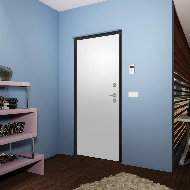 Porta blindata Termika grigio L 90 x H 210 cm destra - 14