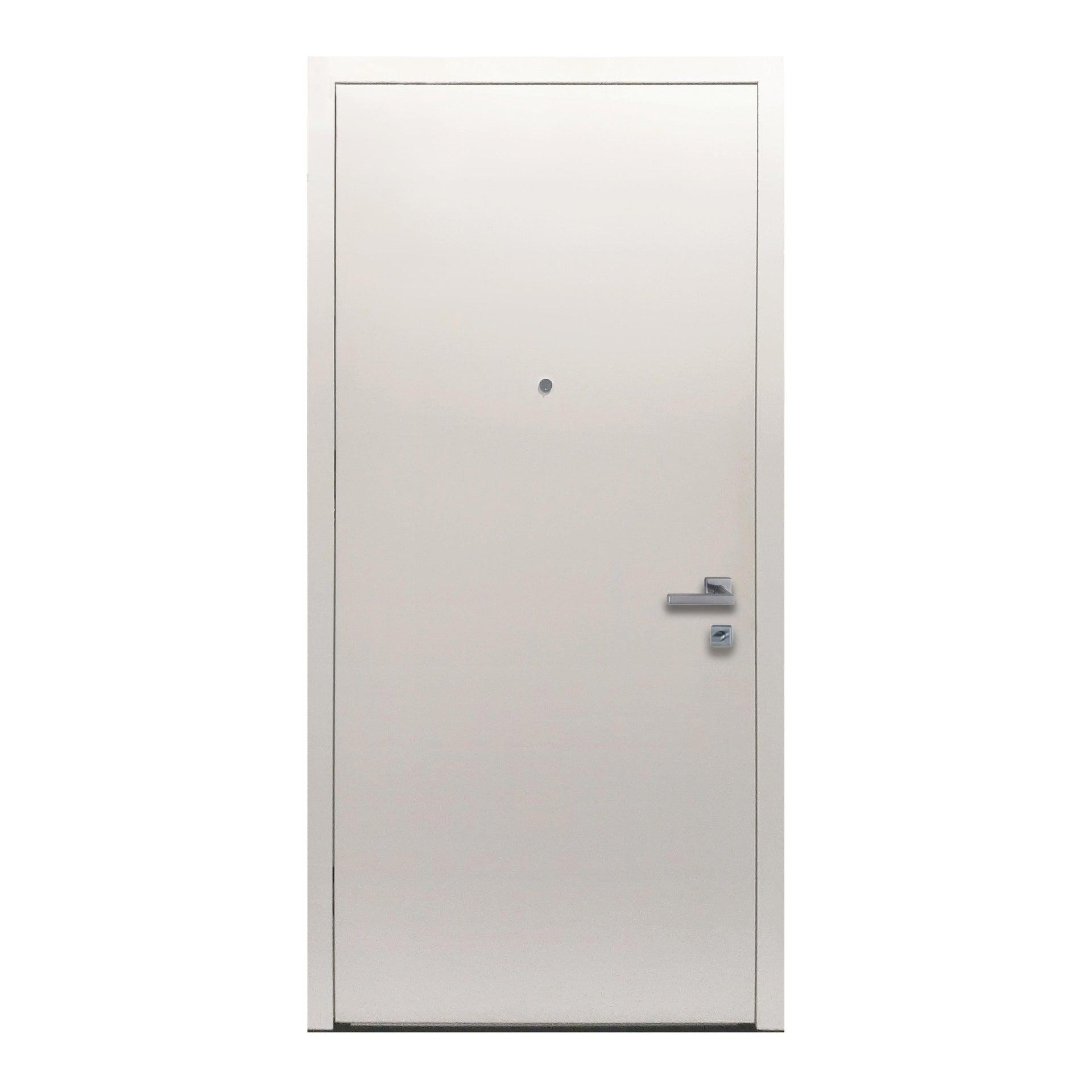 Porta blindata Invisible grigio L 90 x H 210 cm destra - 2