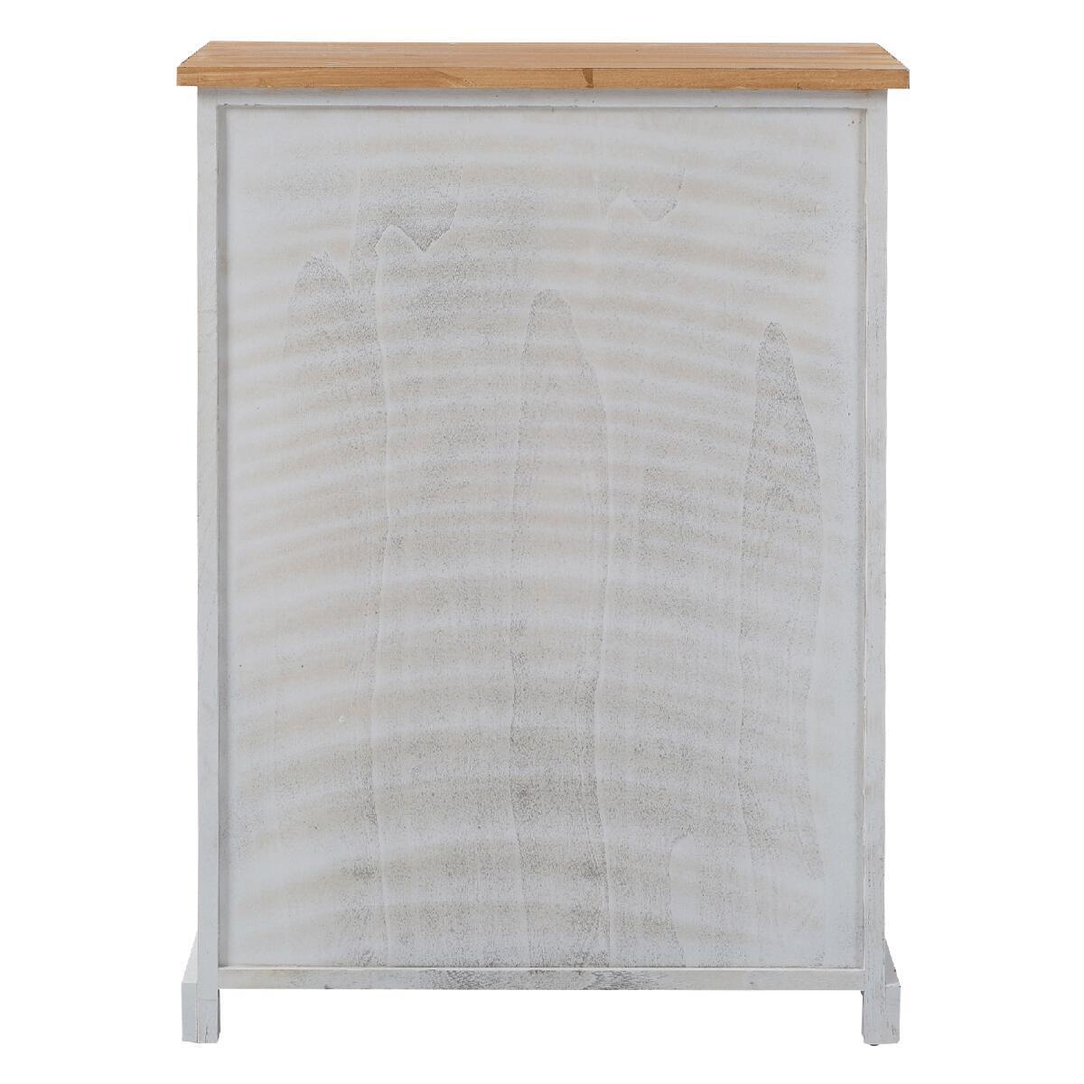 Credenza L 58 x P 30 x H 81 cm bianco, beige, grigio - 5