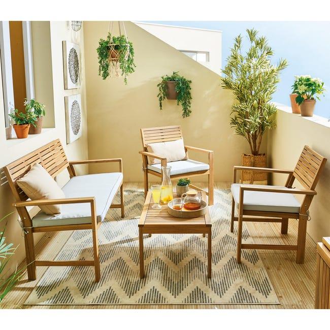 Coffee set rivestito in legno NATERIAL Solis per 4 persone - 1