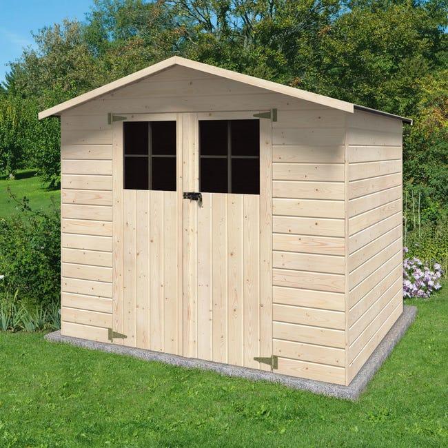 Casetta da giardino in legno Iris, superficie interna 3.78 m² e spessore parete 12 mm - 1