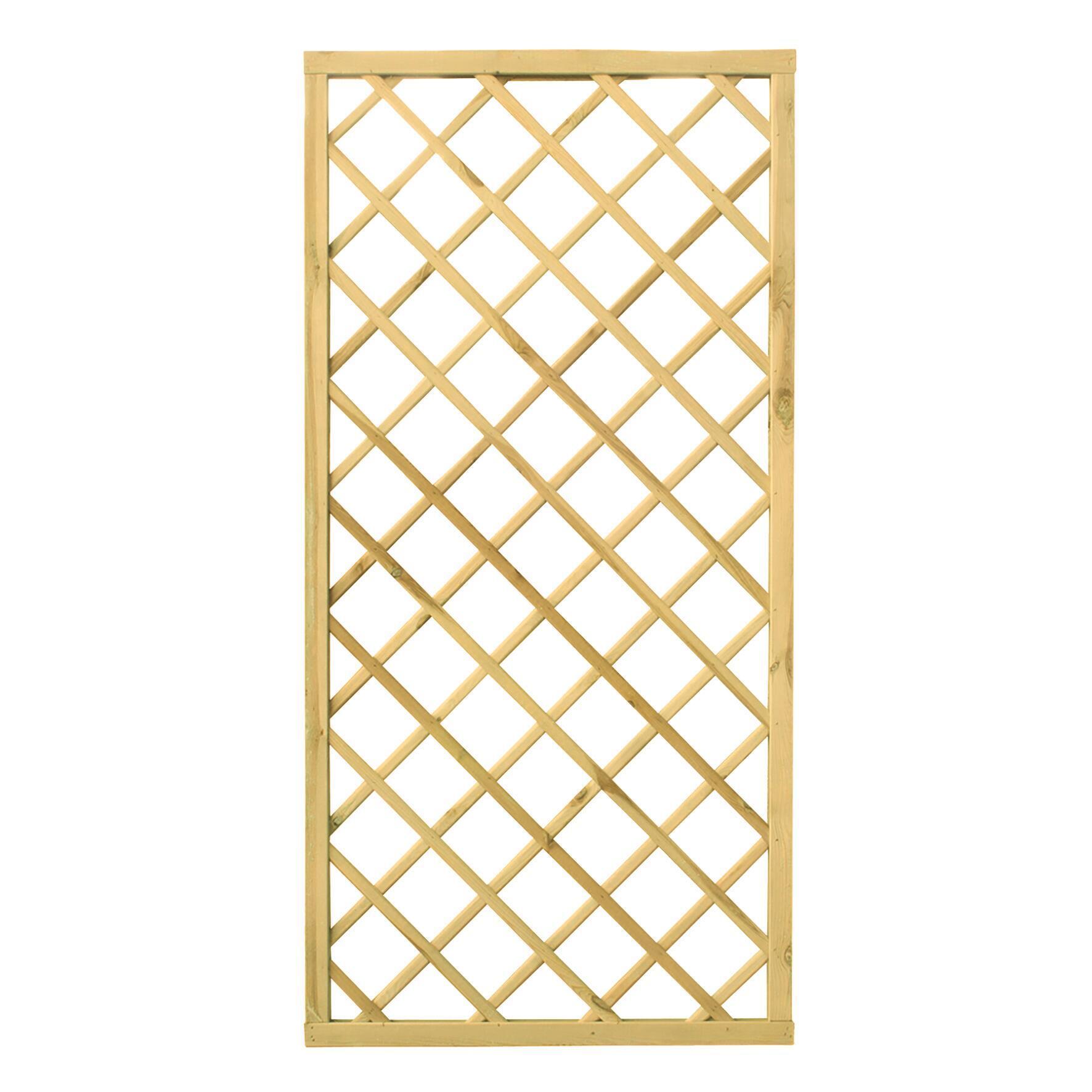 Pannello reticolato in legno Diagonale 90 x 180 cm - 3