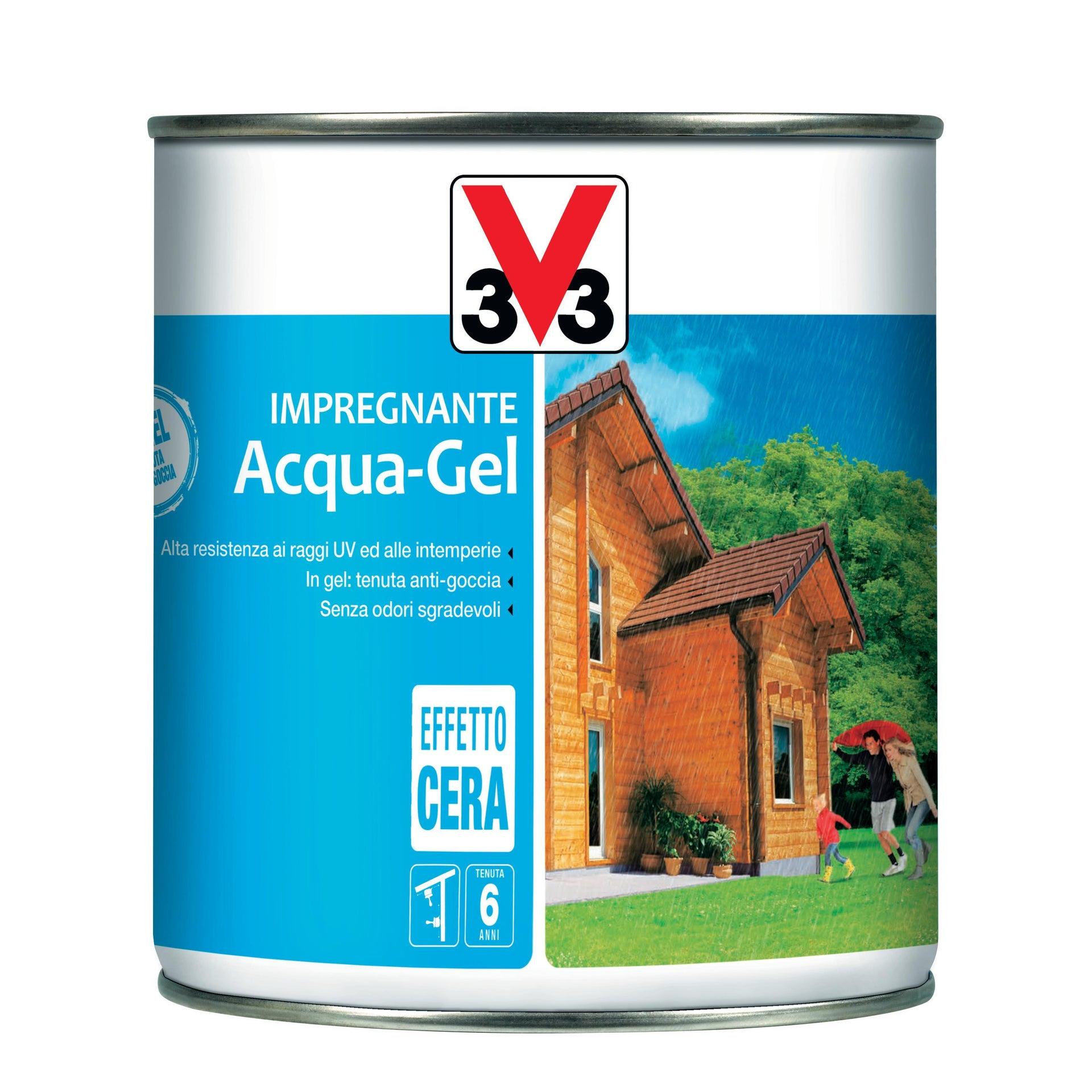 Impregnante a base acqua V33 Acqua-Gel castagno scuro 0.75 L - 3