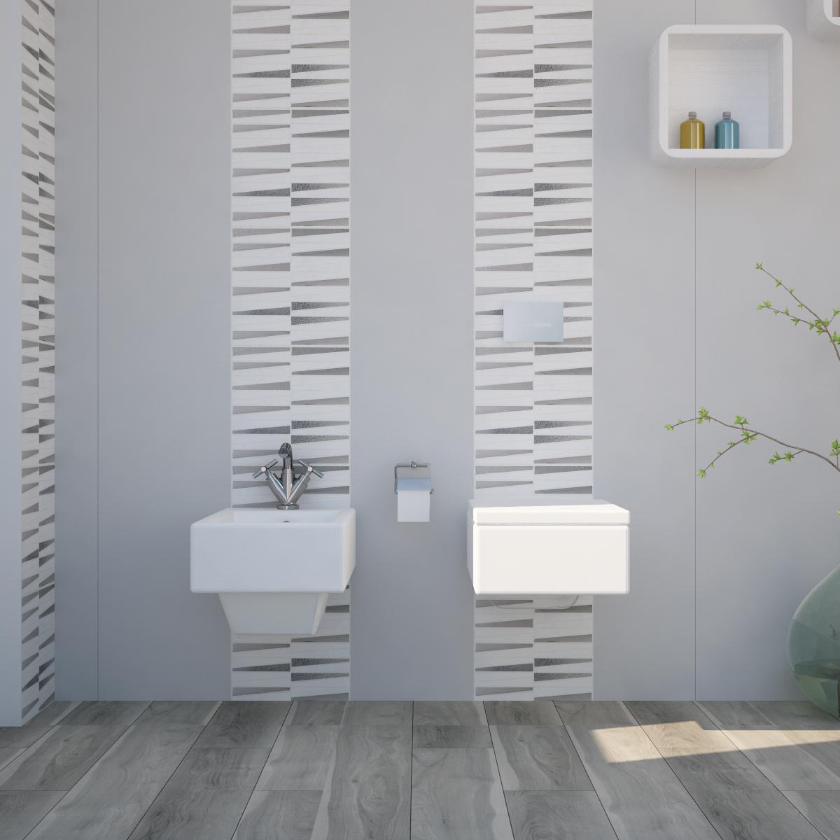 Mosaico H 30 x L 30 cm bianco - 1