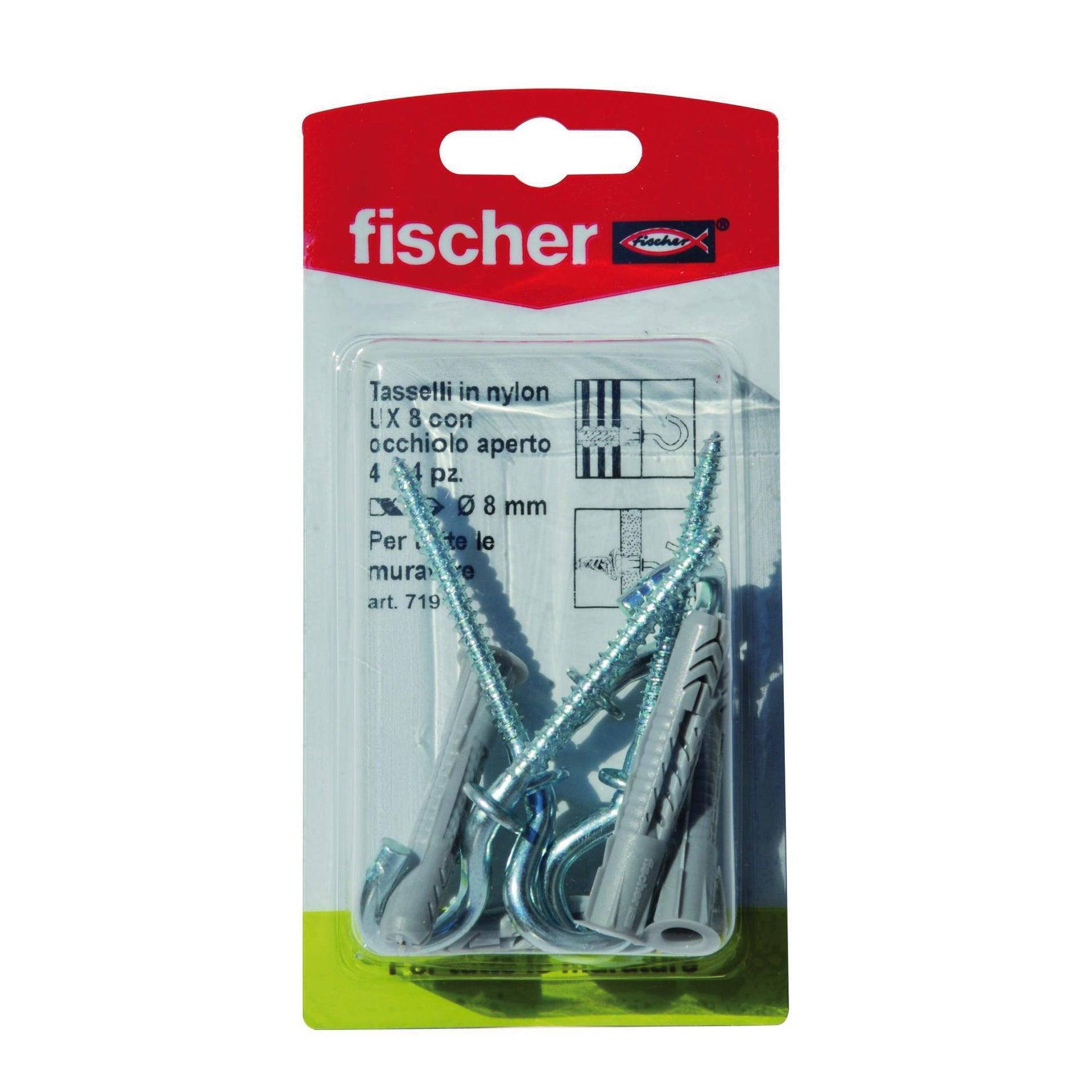 Tassello universale FISCHER UX, L 50 mm, Ø 10 mm, 4 pezzi - 2