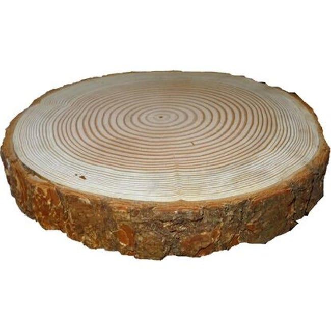 Sagoma decorativa tondo in noce grezzo 40 mm Ø 300/400 mm - 1