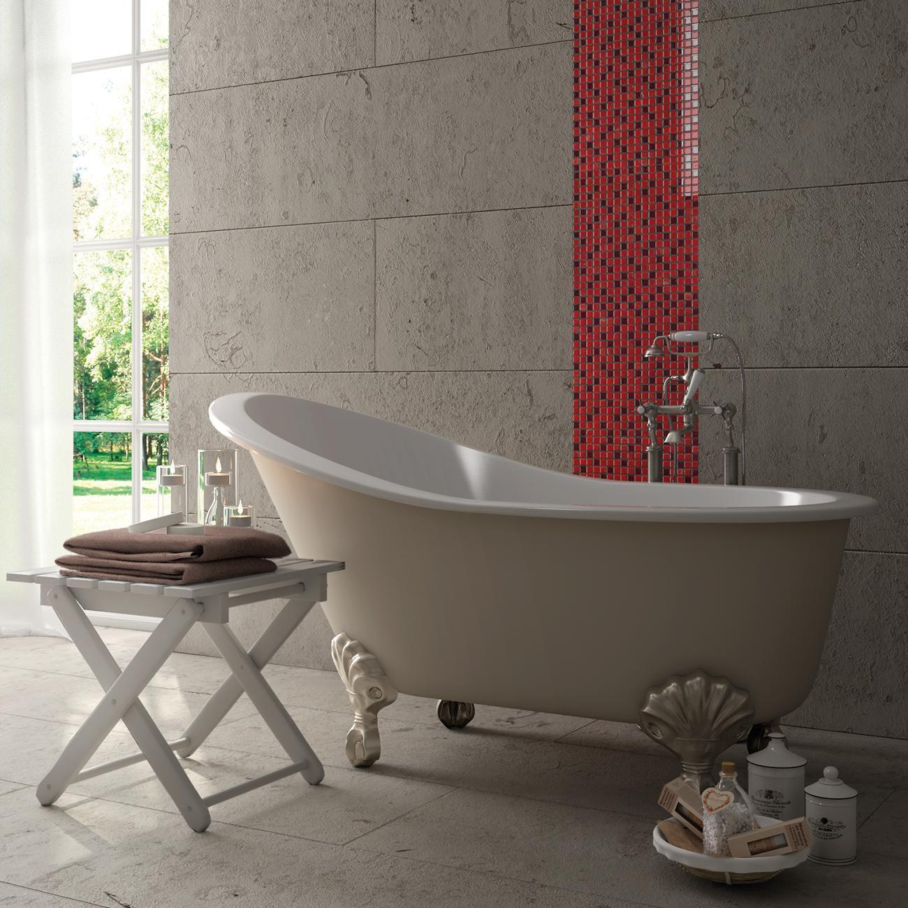 Mosaico H 30 x L 30 cm rosso - 2