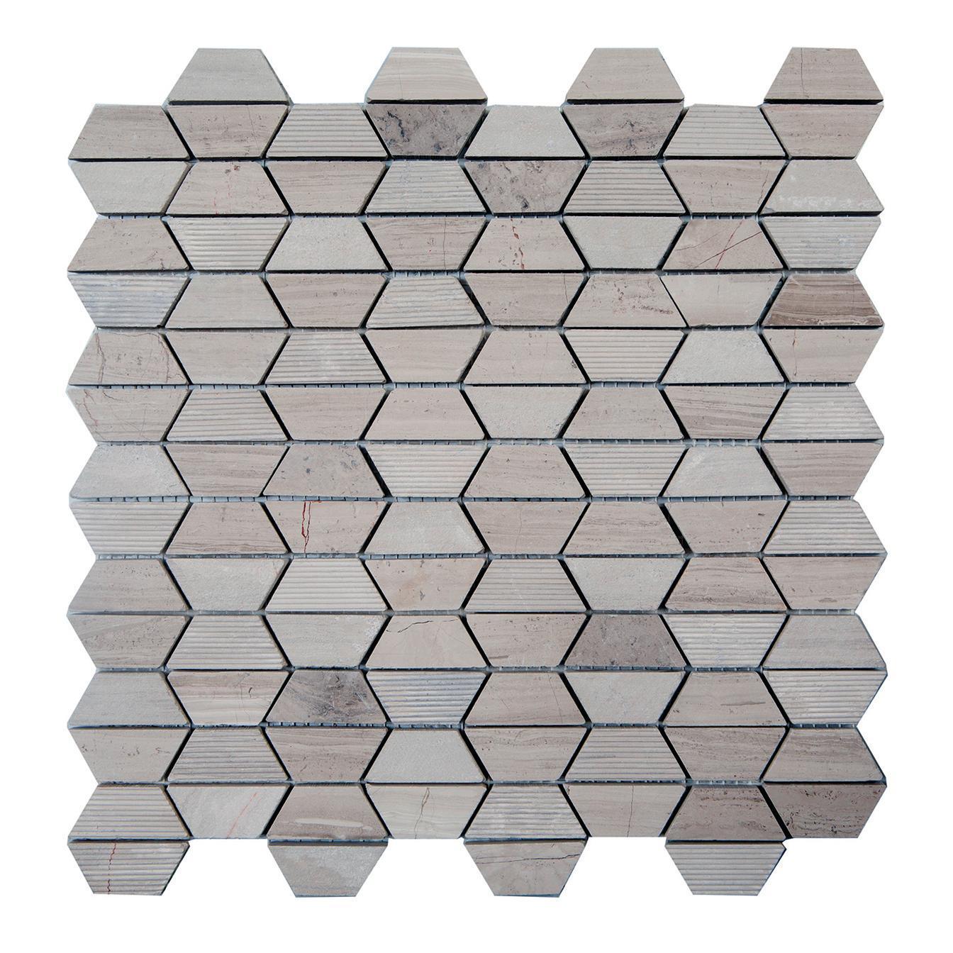 Mosaico H 30 x L 30 cm grigio - 2