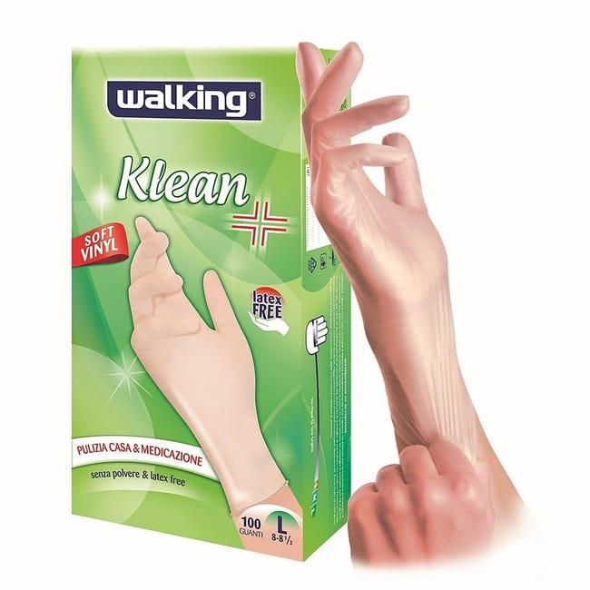 Guanti in vinile WALKING Klean 9 / L , 100 pezzi - 1