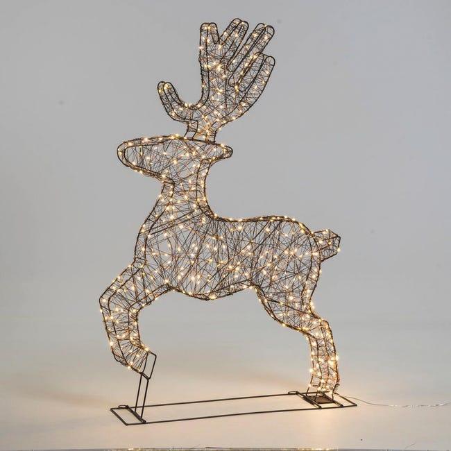 Renna 380 lampadine bianco caldo H 115 cm - 1