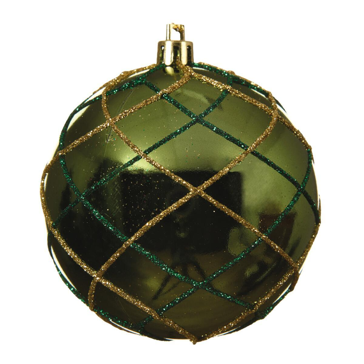 Sfera natalizia in plastica Ø 8 cm