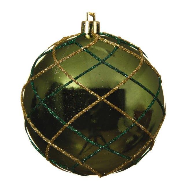 Sfera natalizia in plastica Ø 8 cm - 1