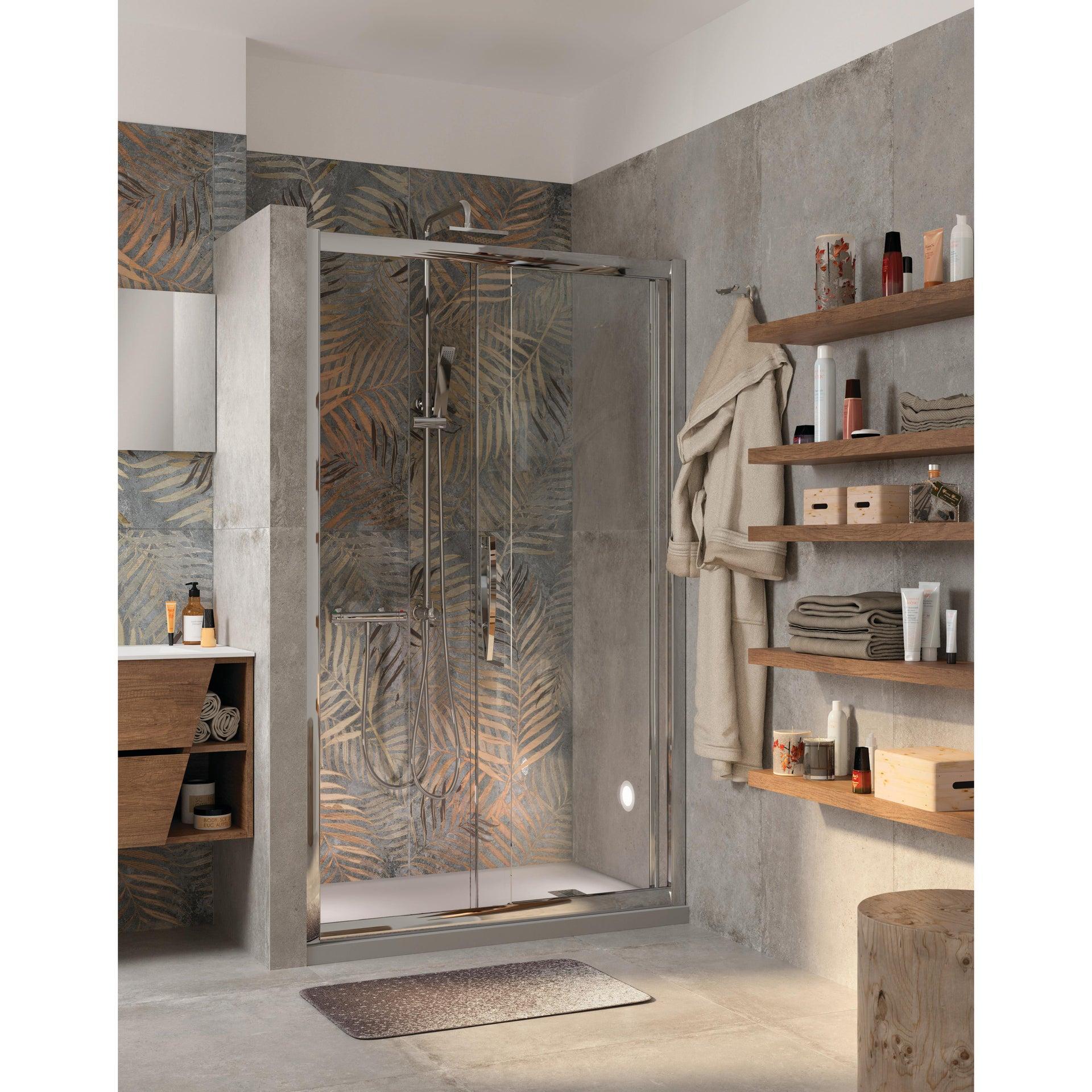 Piatto doccia ultrasottile resina sintetica e polvere di marmo Remix 80 x 140 cm grigio - 2