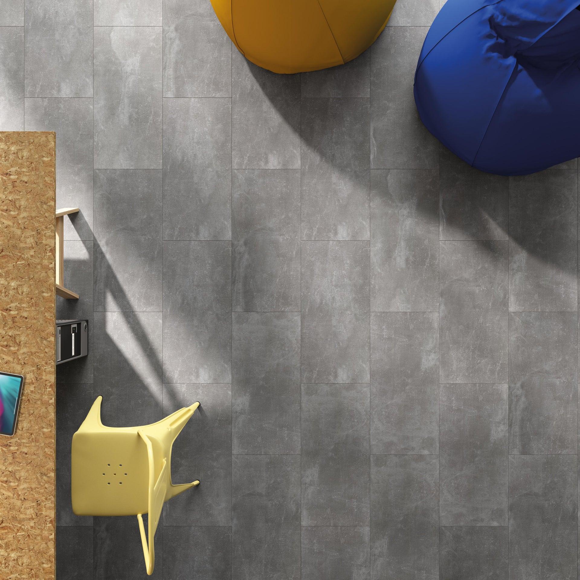 Pavimento SPC flottante clic+ Pietra Nova Industrial Sp 4.5 mm grigio / argento - 5