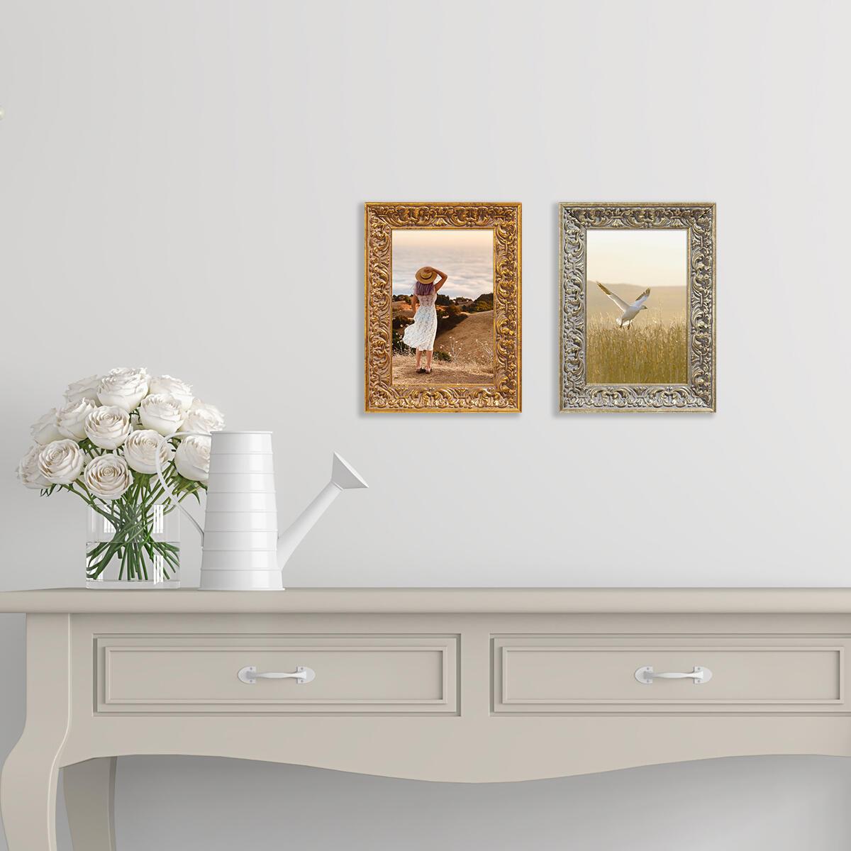 Cornice Amber dorato per foto da 50x70 cm - 5
