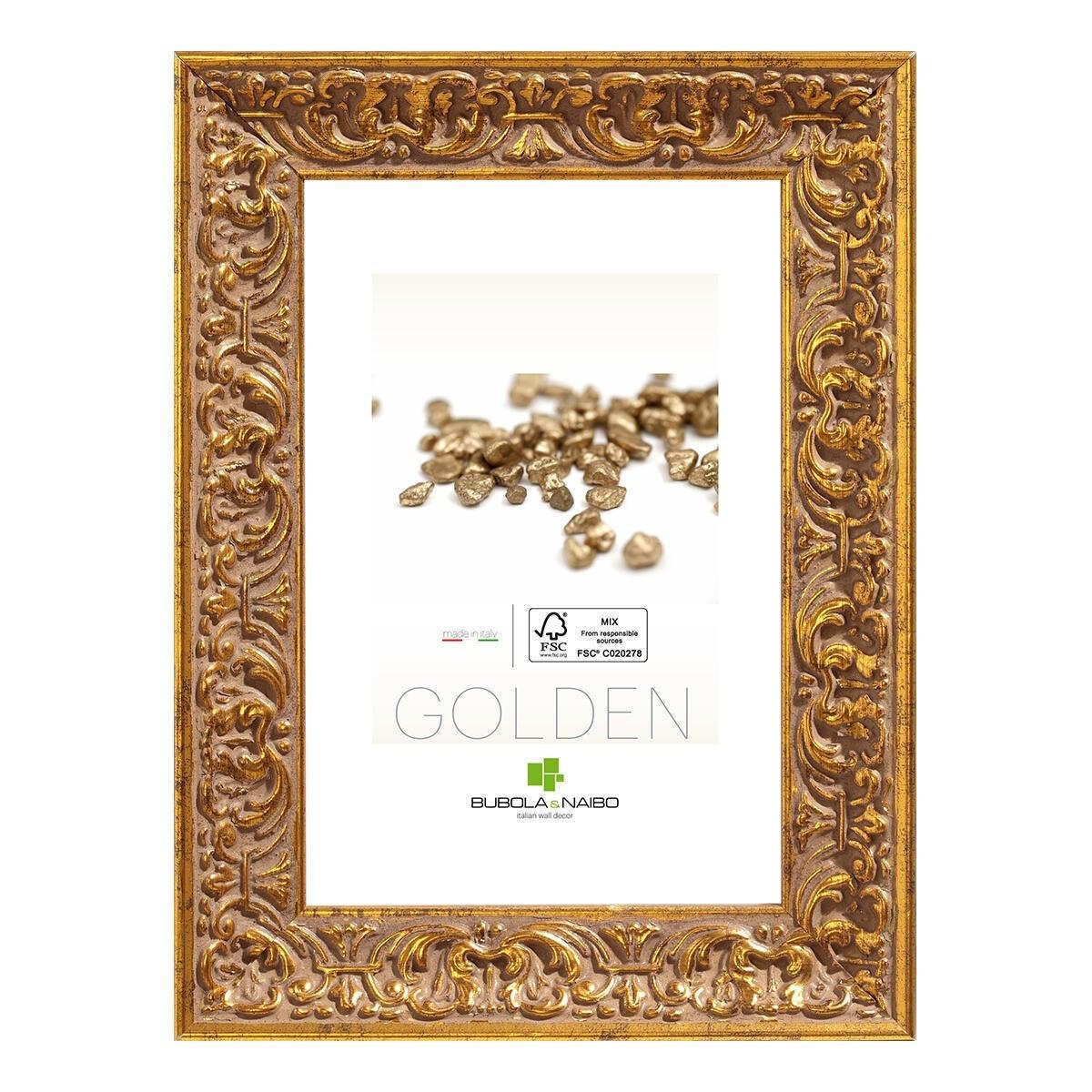 Cornice Amber dorato per foto da 50x70 cm - 1