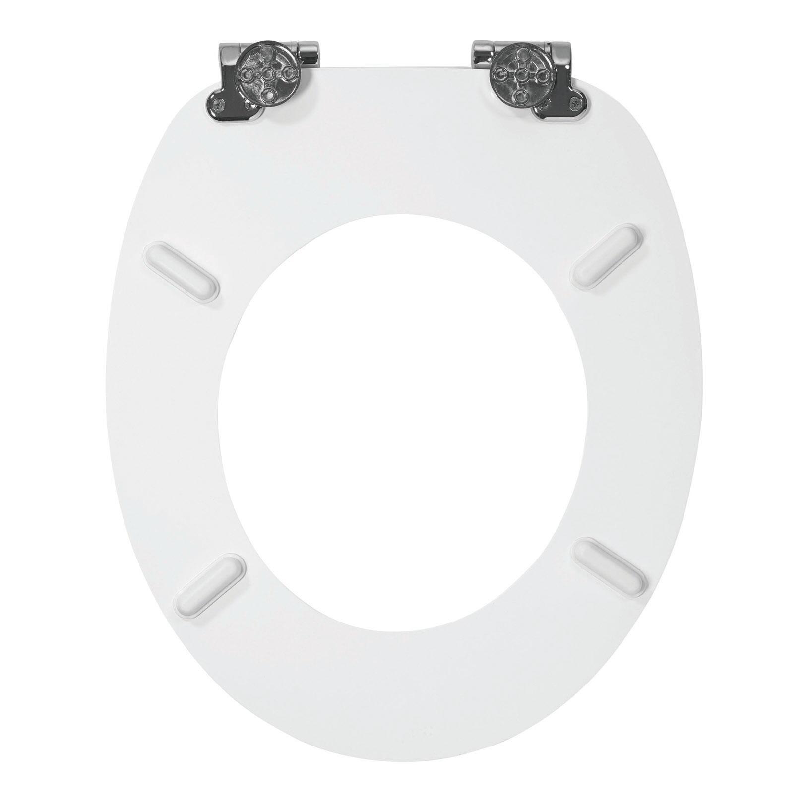 Copriwater ovale Universale Woody WIRQUIN legno massello bianco - 6