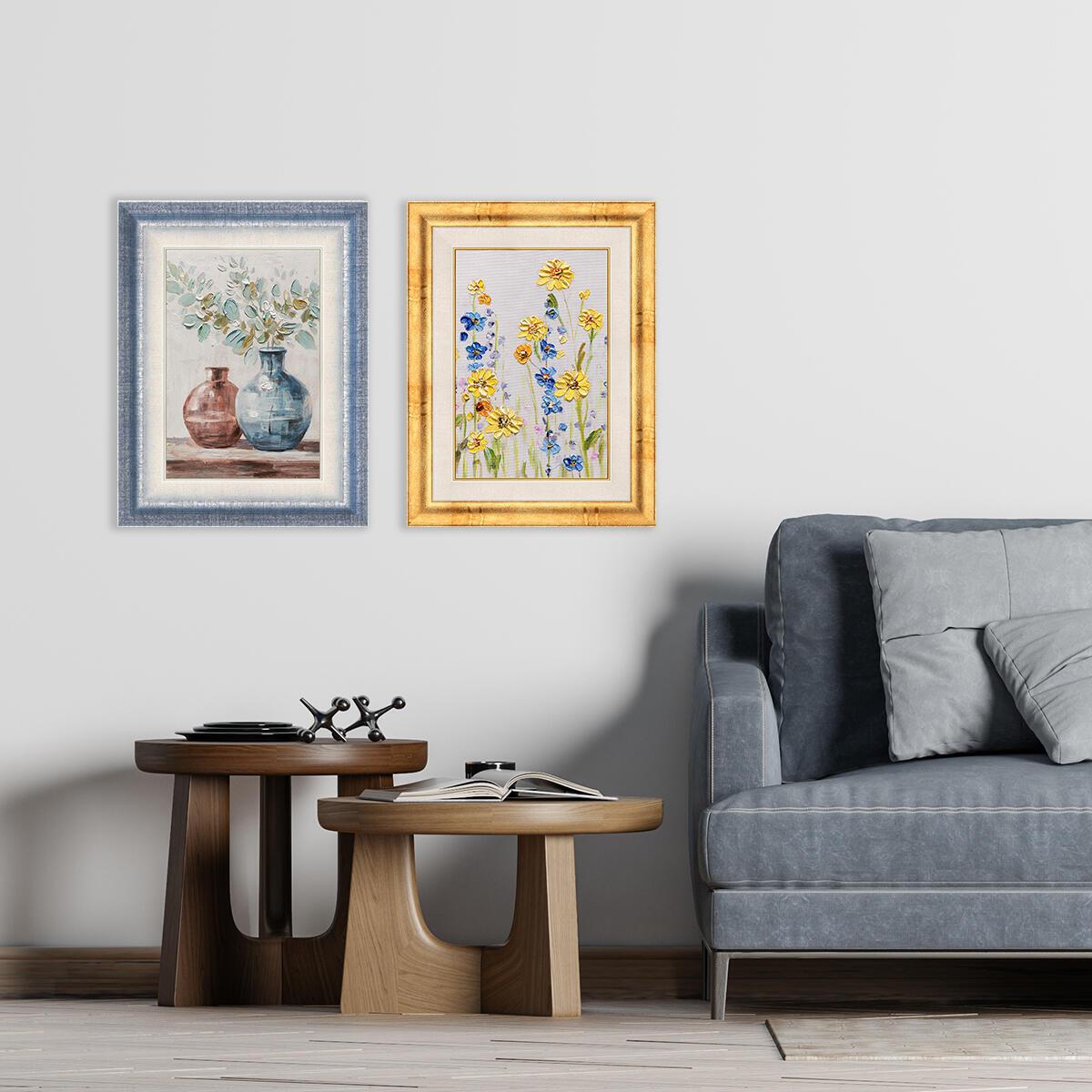 Cornice Tamara azzurro per foto da 50x70 cm - 4
