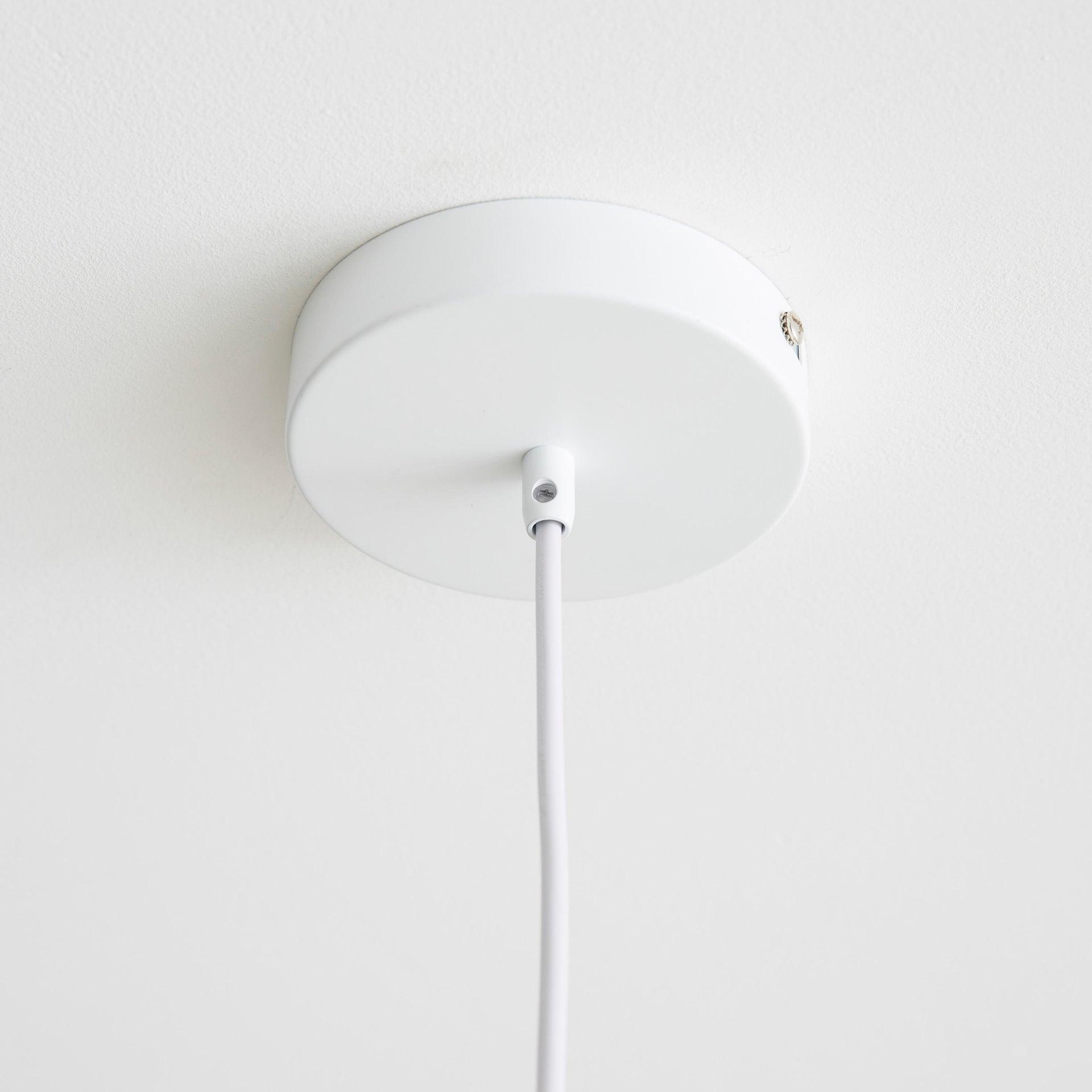 Lampadario Scandinavo Melga bianco in metallo, D. 20 cm, INSPIRE - 4