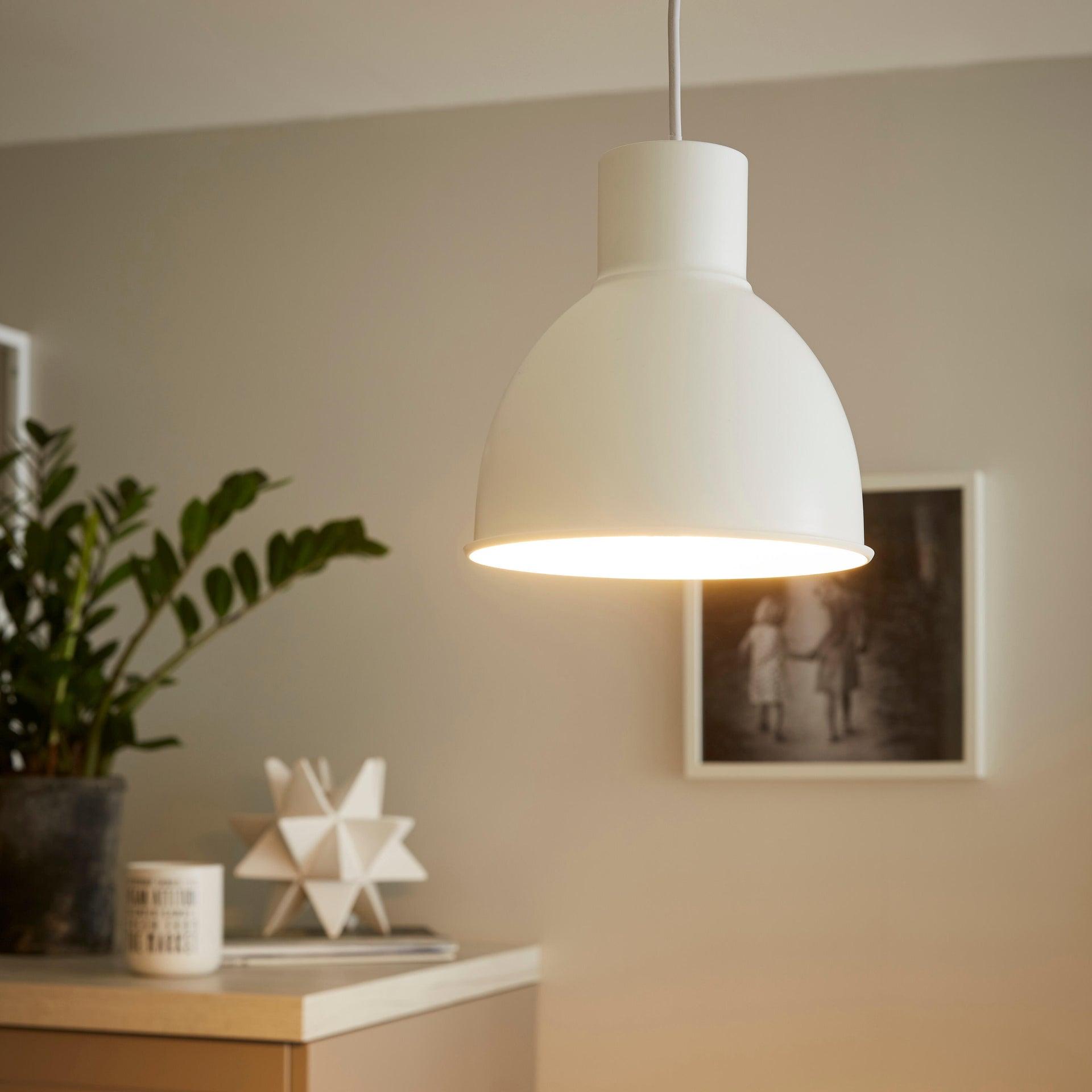Lampadario Scandinavo Melga bianco in metallo, D. 20 cm, INSPIRE - 5